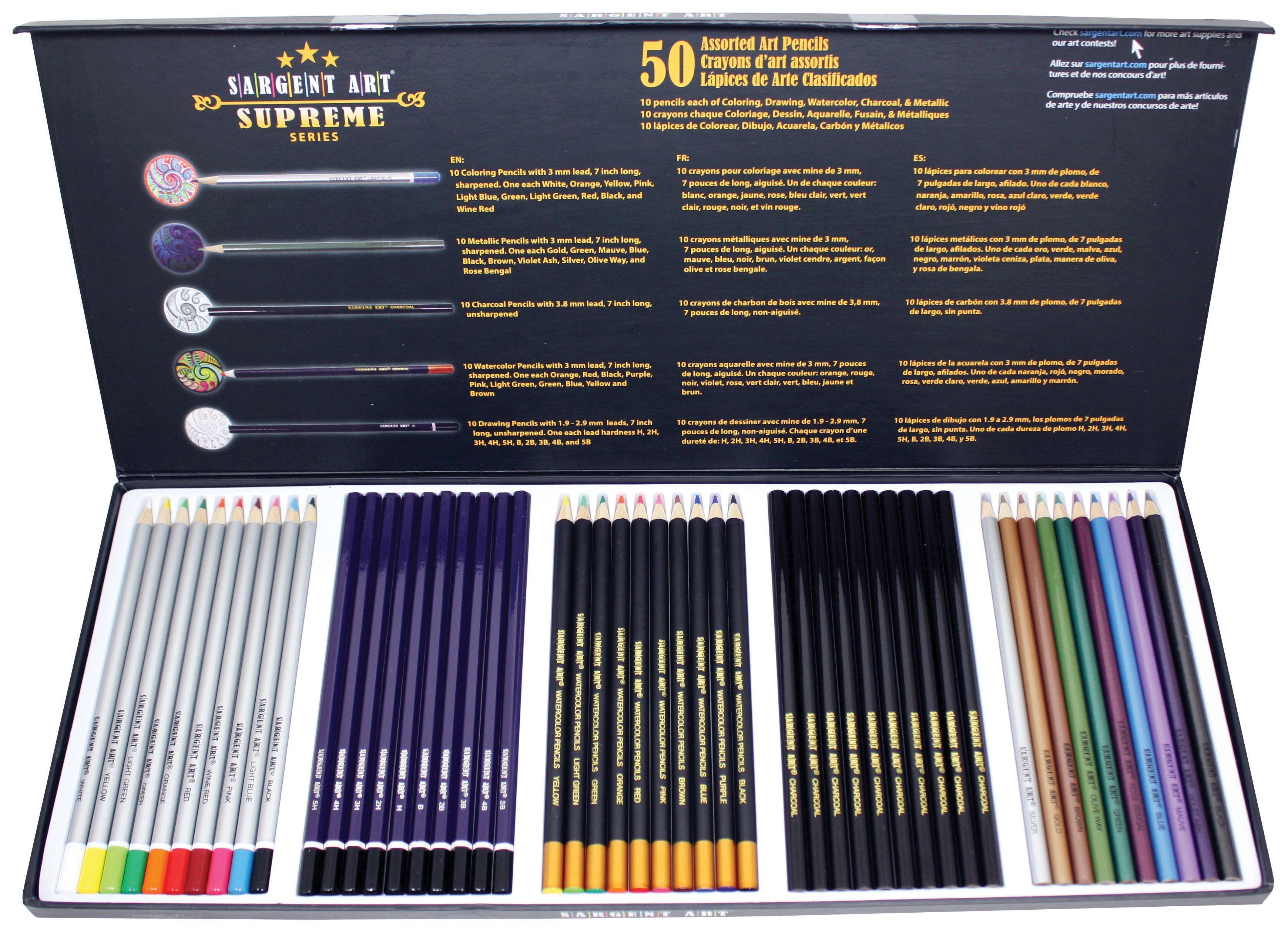 Amazon.com: Sargent Art 22-7295 Supreme Art Pencil Set: Colored ...