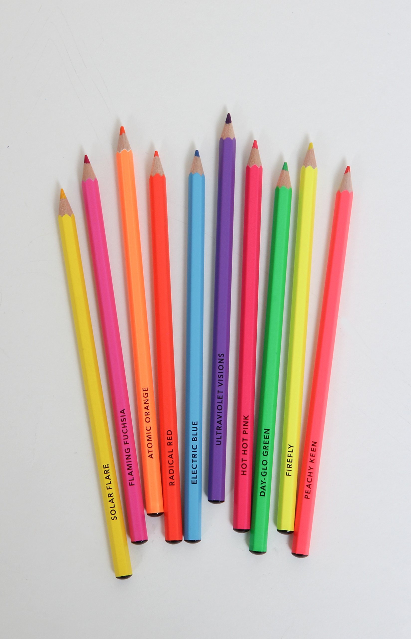Bright Ideas Neon Colored Pencils: Chronicle Books: 9781452154787 ...