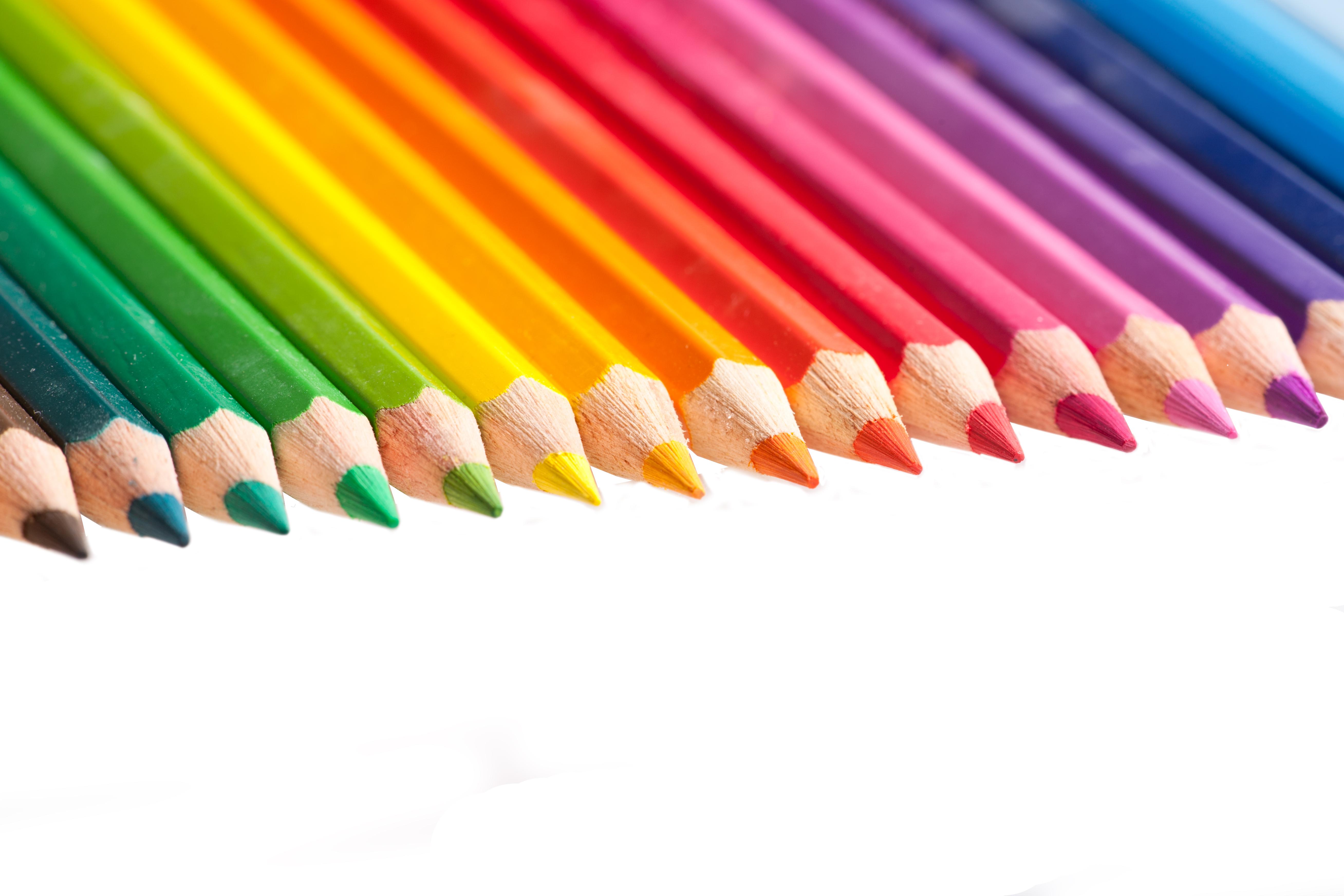 Color pencils, Art, Isolated, Multi, Nobody, HQ Photo