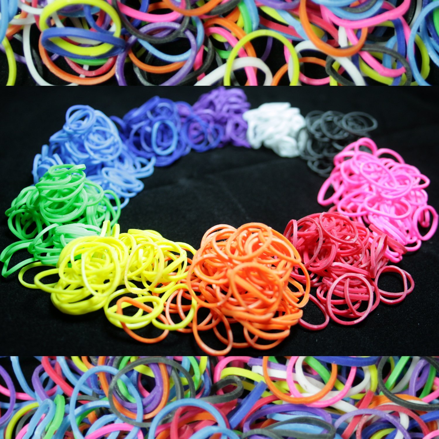 Amazon.com: 600 Piece Multi-Color Rubber Band and S-Clips Loom Art ...