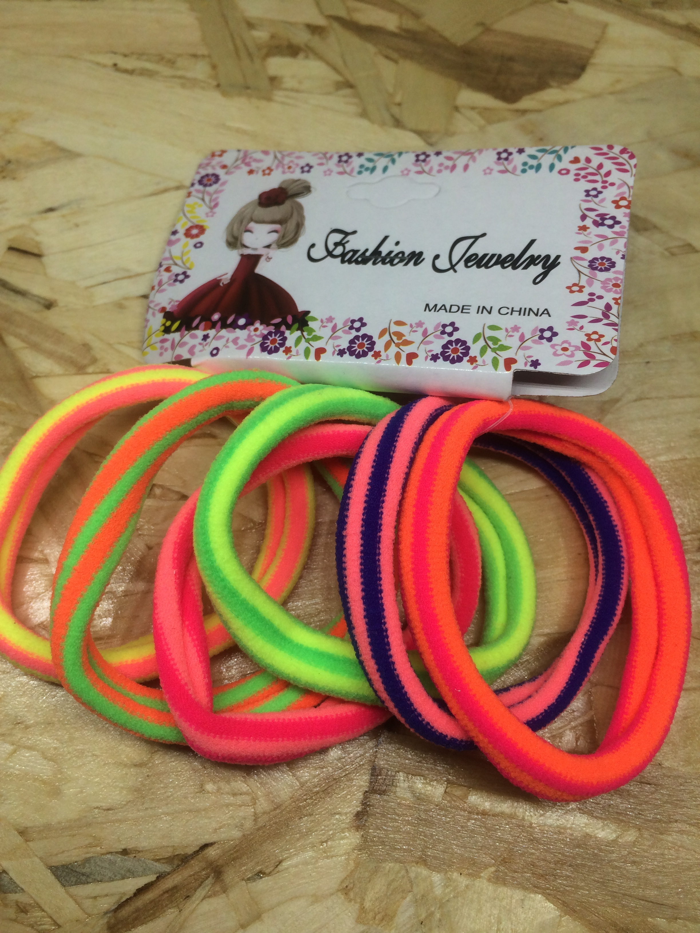 FLORESCENT LIGHT COLOR PONYTAIL RUBBER BAND HOLDER - Fashionoor