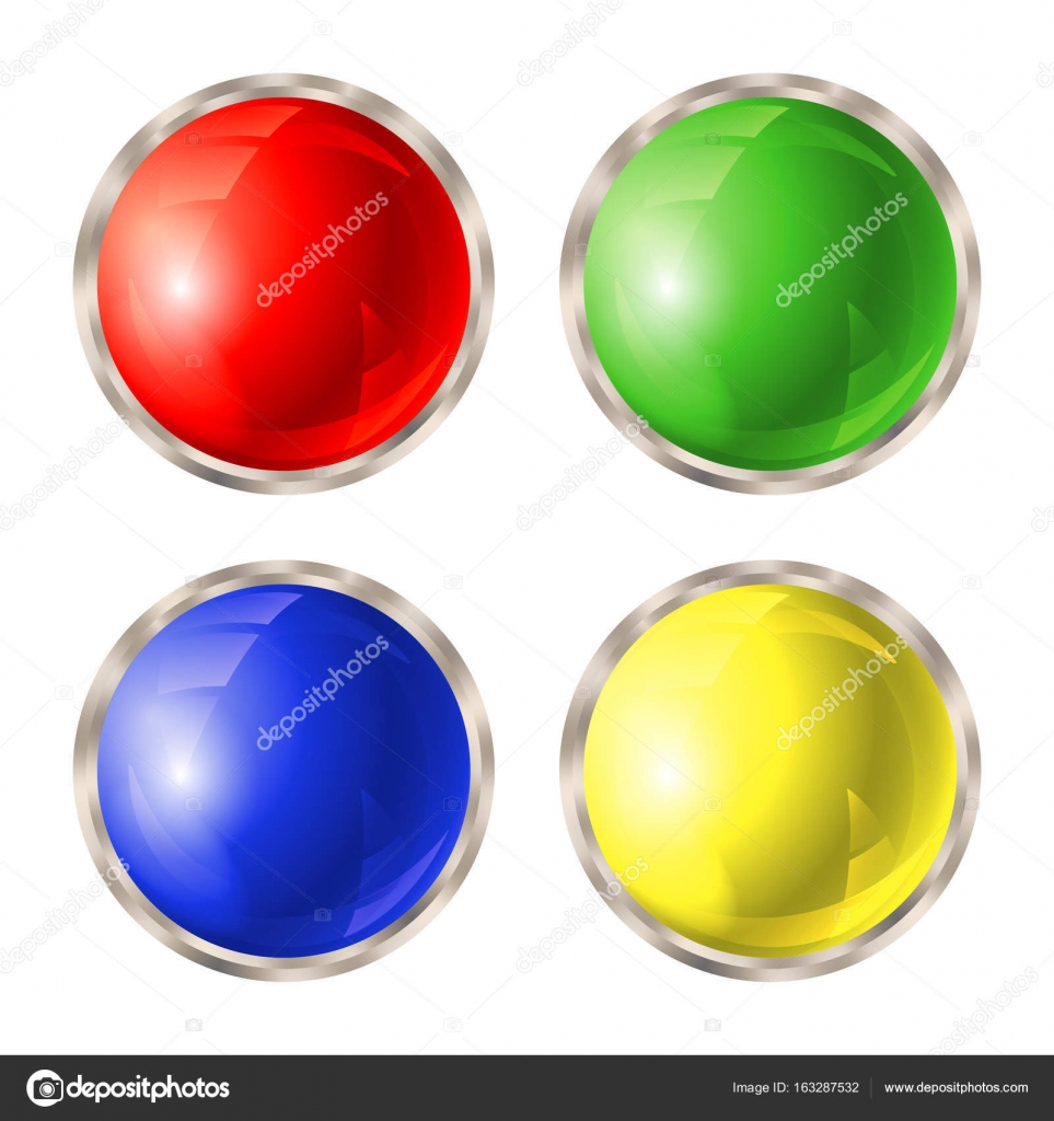 Set of colored buttons — Stock Vector © bobevv #163287532