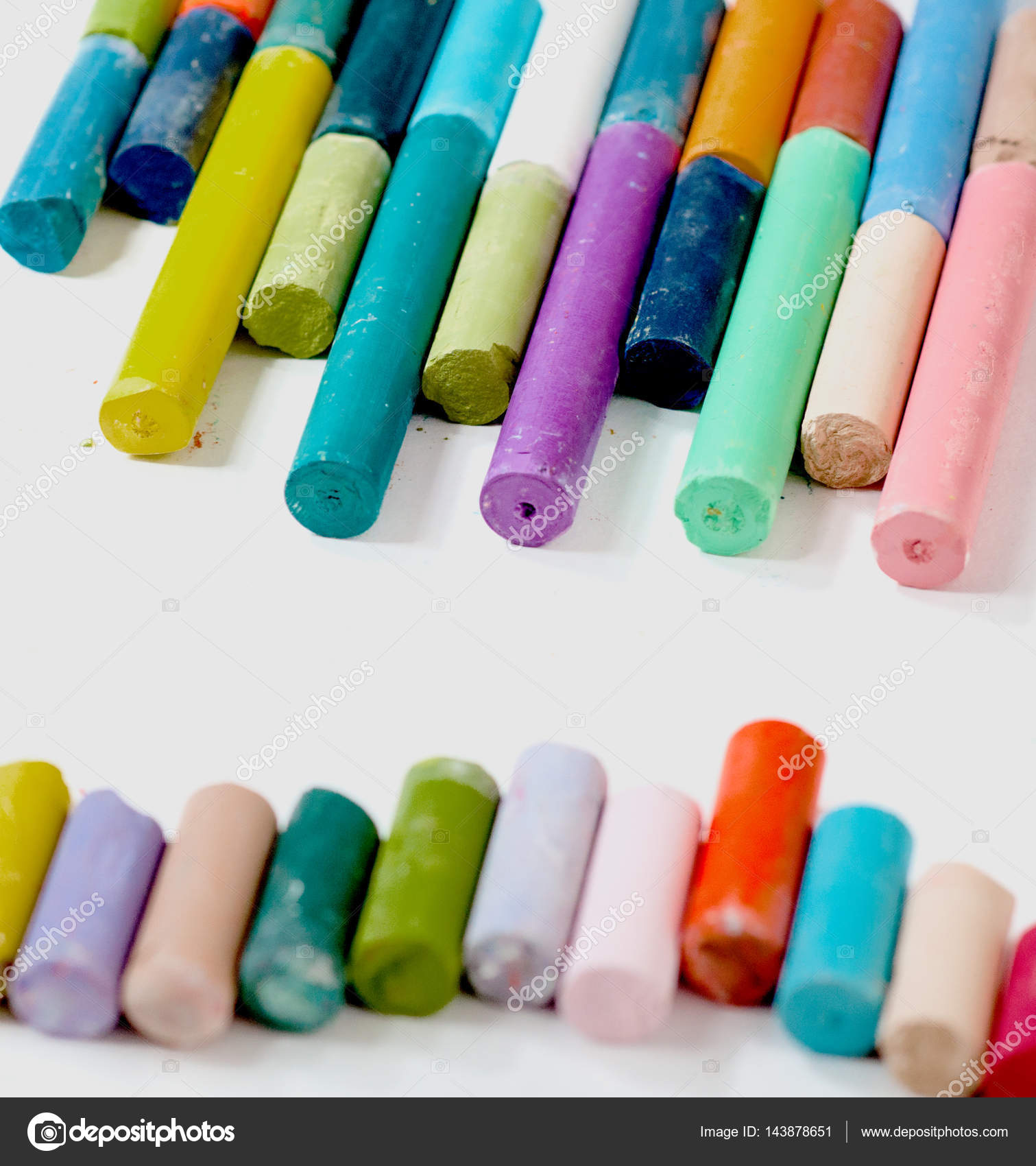 Set of the colored chalks — Stock Photo © iosifbudau #143878651