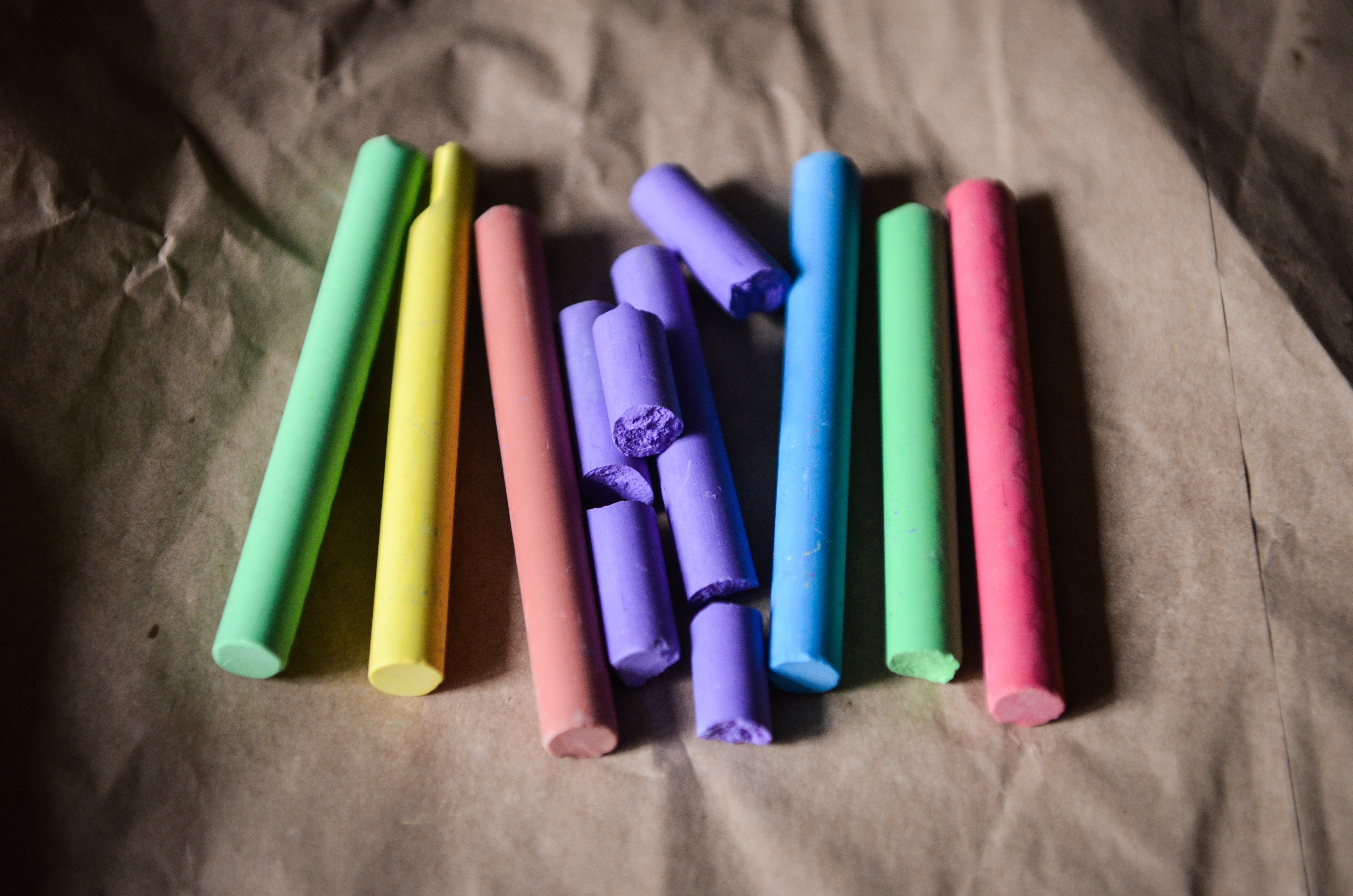 Colored Chalks, Write, Colorful, Color, Chalk, HQ Photo