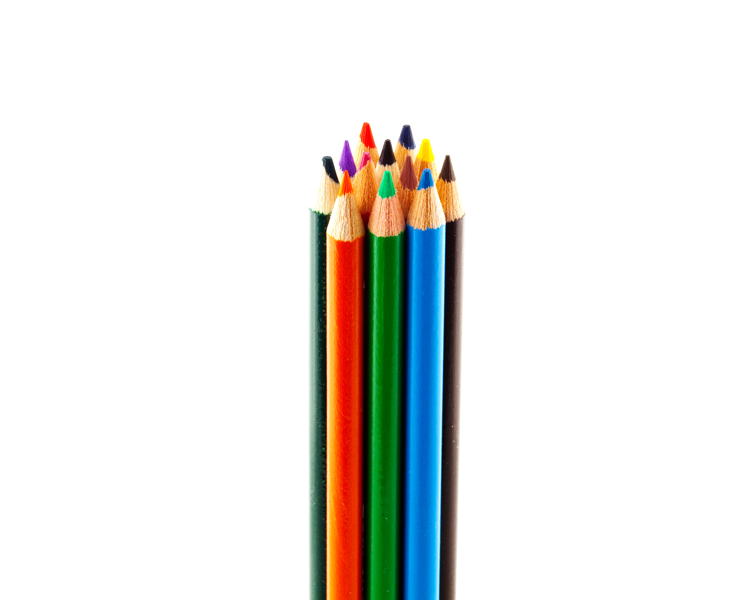 Colored pencils, Art, Wood, White, Sketch, HQ Photo