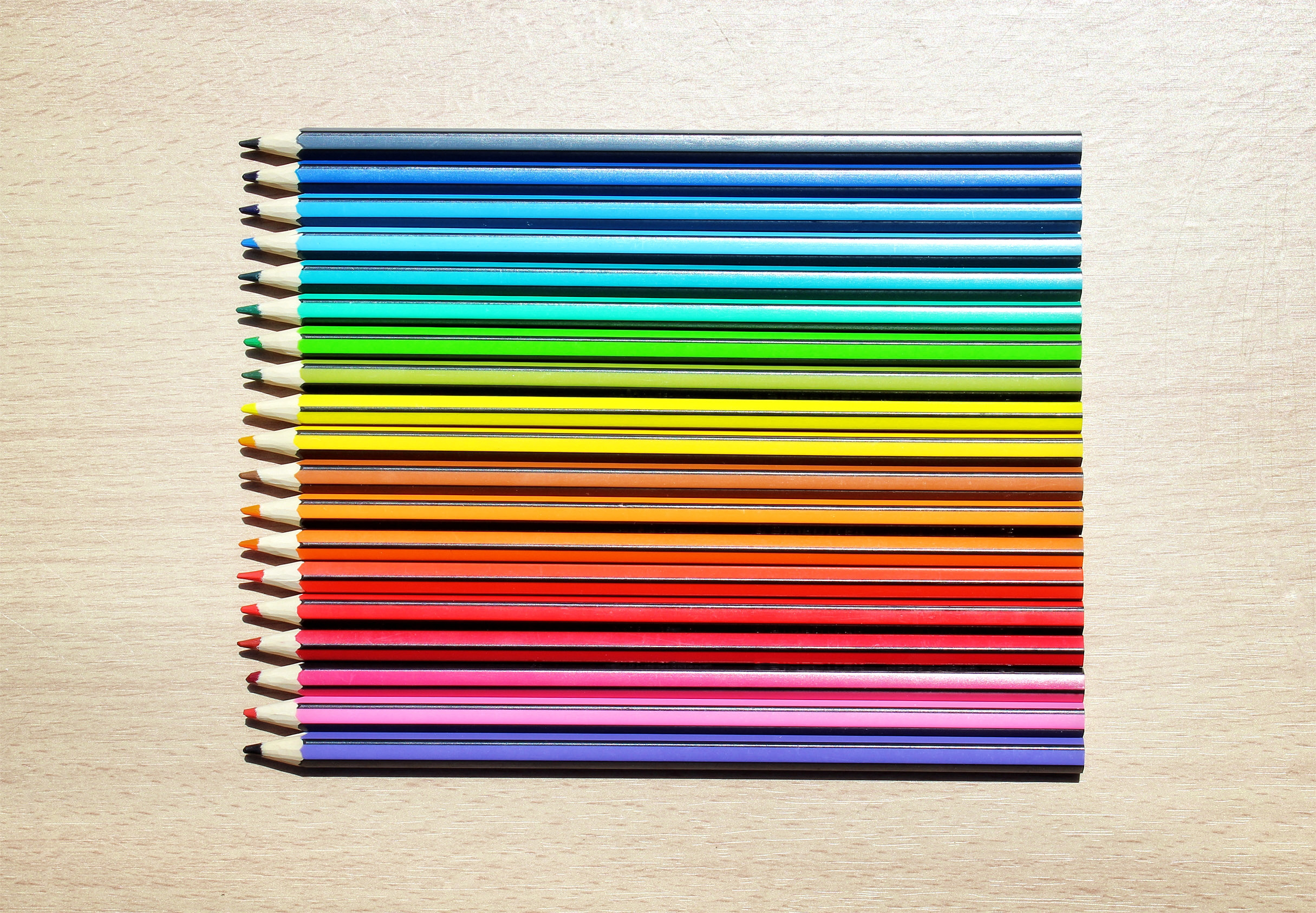 Colored Pencils Aligned, Abstract, School, Nobody, Object, HQ Photo