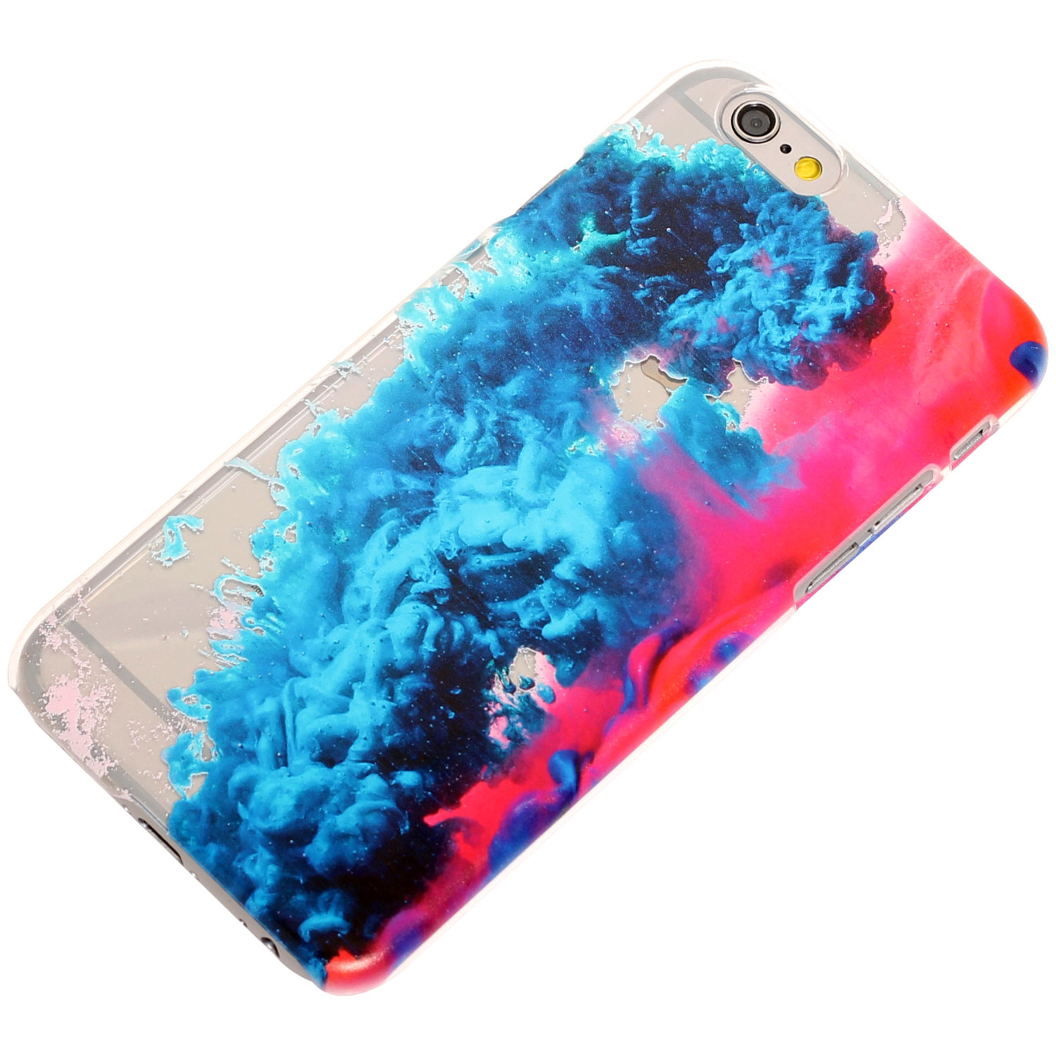 Colored Smoke Water Transparent Clear-Blue-Pink -iPhone Case-Trendy ...