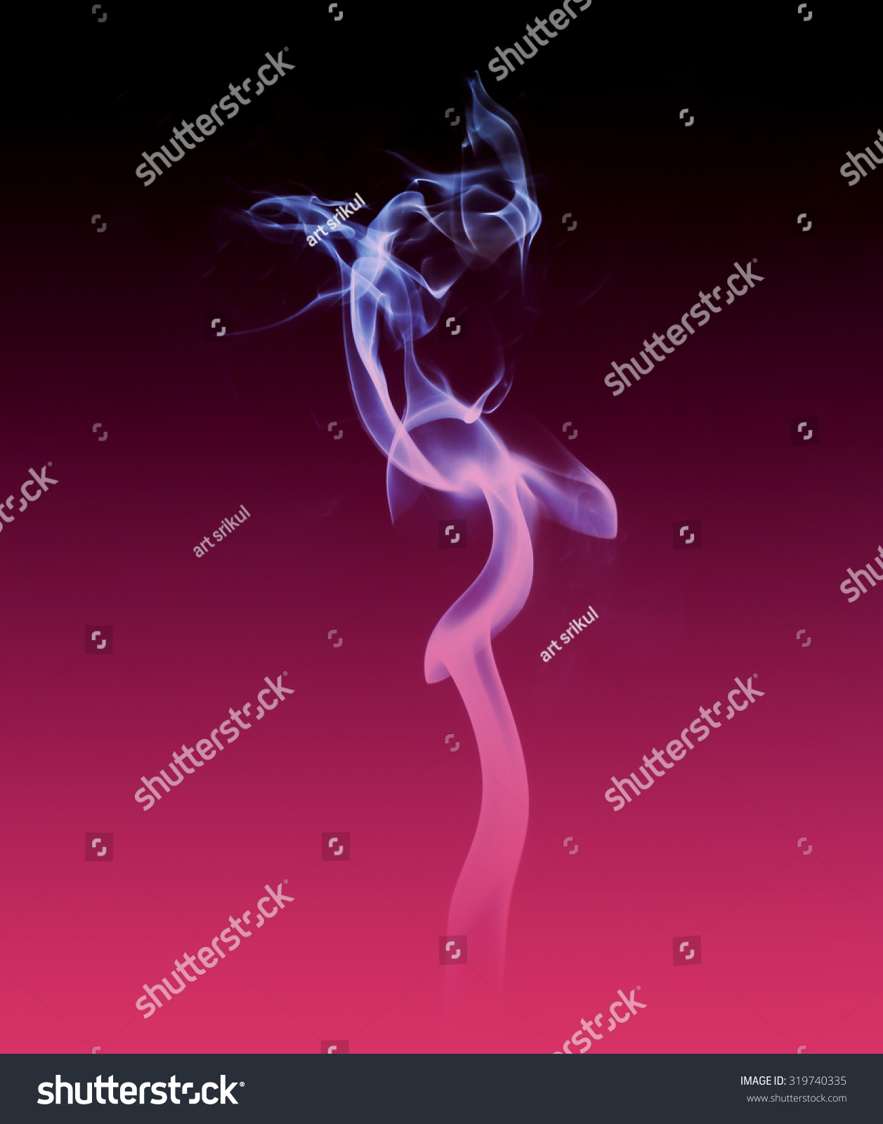 Colored Smoke Black Pink Stock Photo 319740335 - Shutterstock