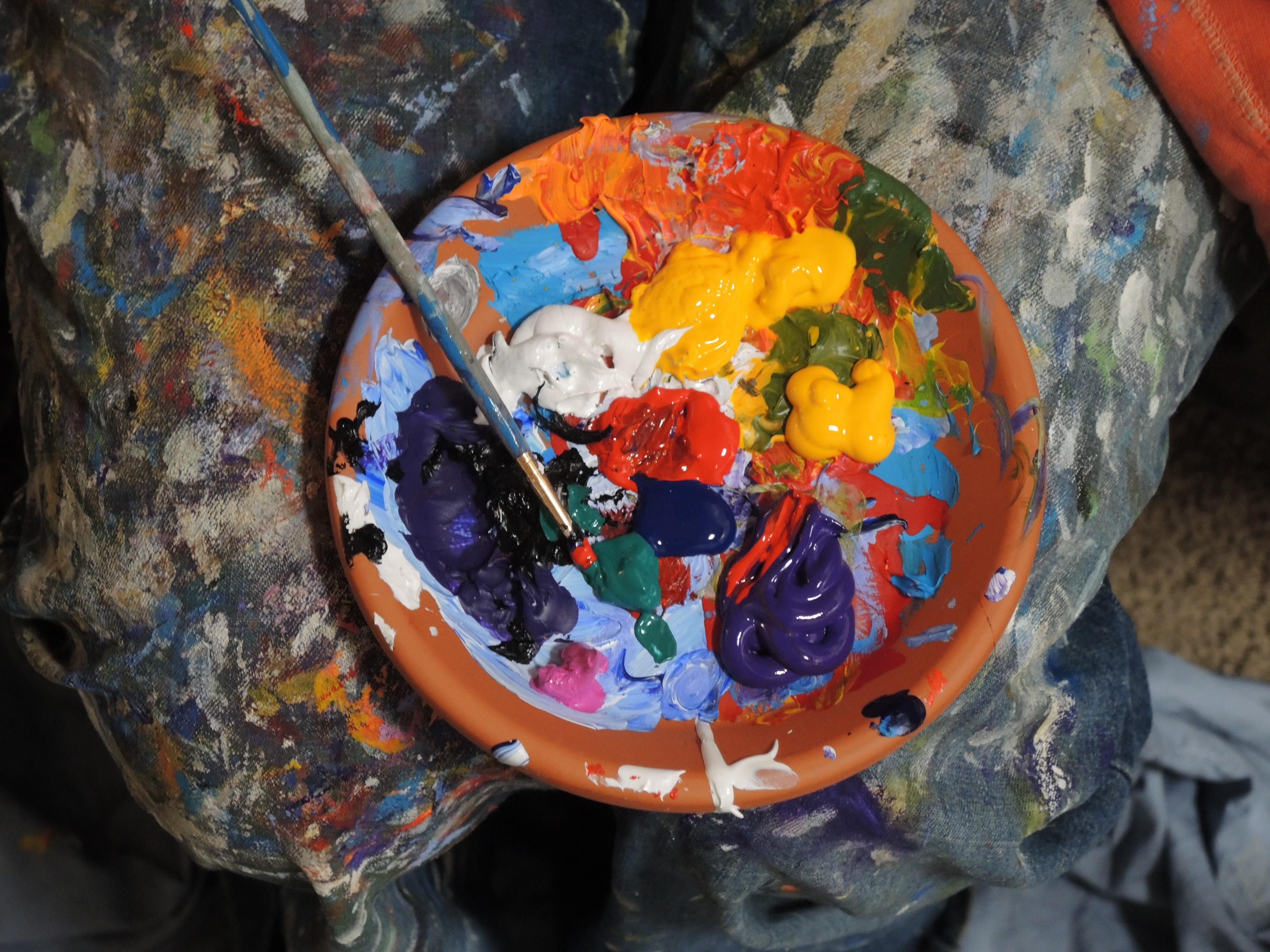 Colorful, Paint, Kit, Bowl, Color, HQ Photo