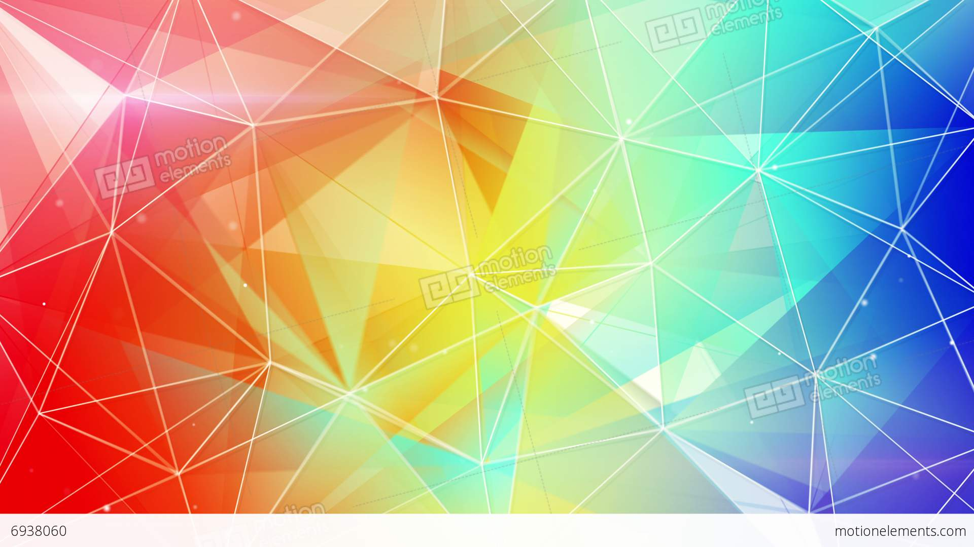 Abstract Triangle Geometrical Colorful Background Loop 4k (4096x2304 ...
