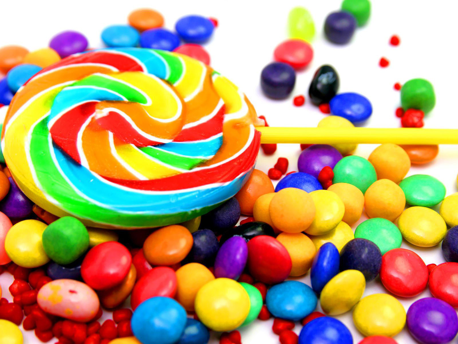 Lots of delicious colorful candies - Children love sweets Wallpaper ...