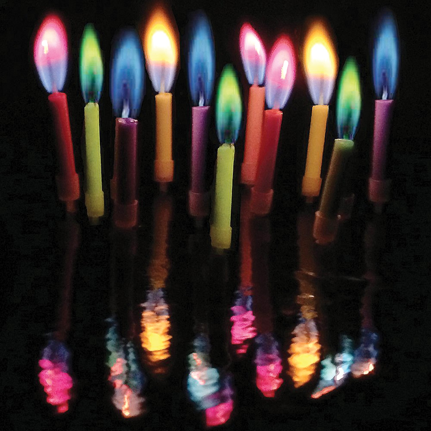 Colorful candles photo