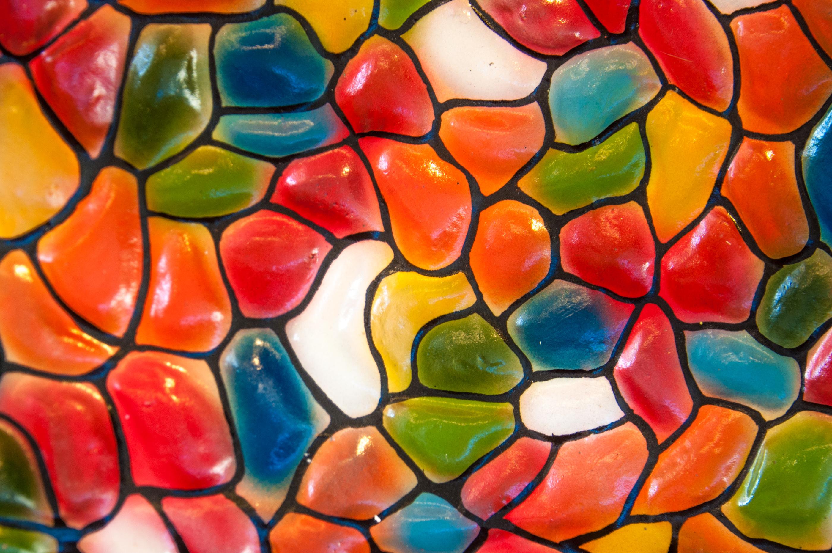 Colorful ceramic tiles wallpaper photo