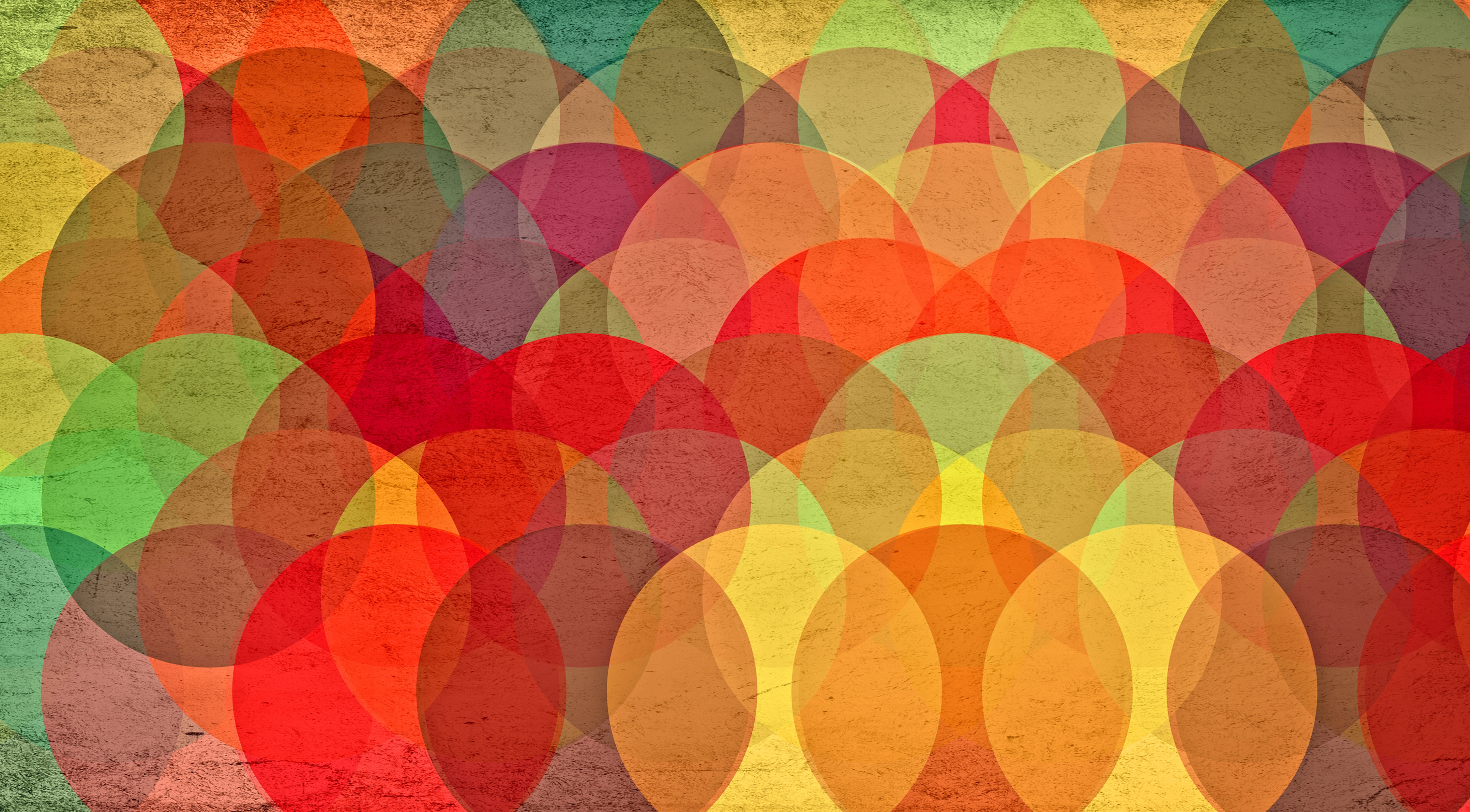 Colorful Circles on Grunge Background - Abstract Pattern, Abstract, Orange, Rainbow, Print, HQ Photo