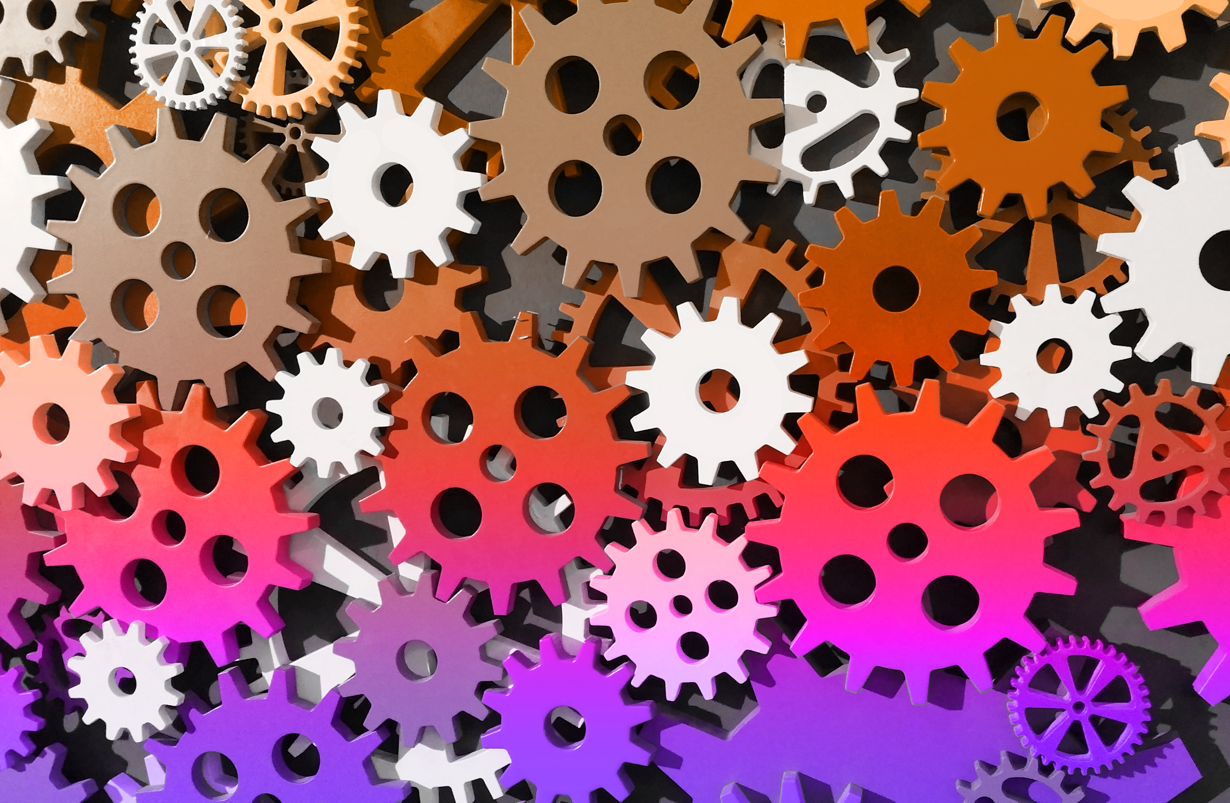 Colorful Cogwheels, Abstract, Rotation, Rotate, Roll, HQ Photo