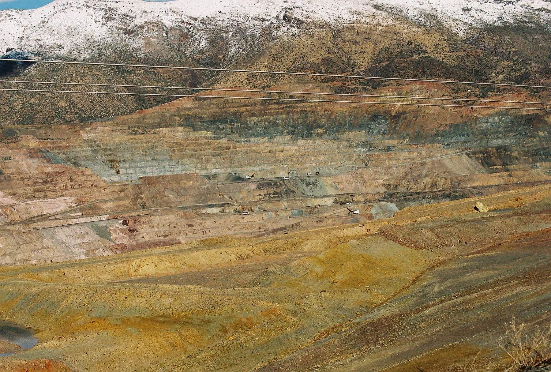 Colorful copper mine photo