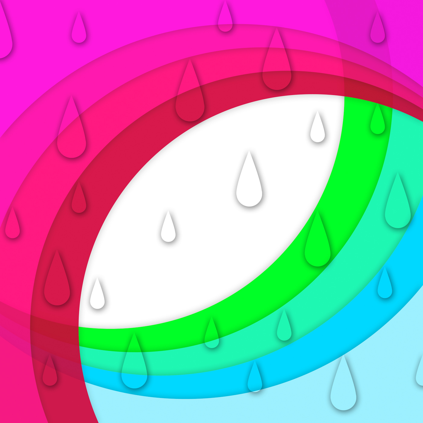Colorful Curves Background Shows Sloping Lines And Water Drops, Rainbow, Rain, Raining, Sloping, HQ Photo