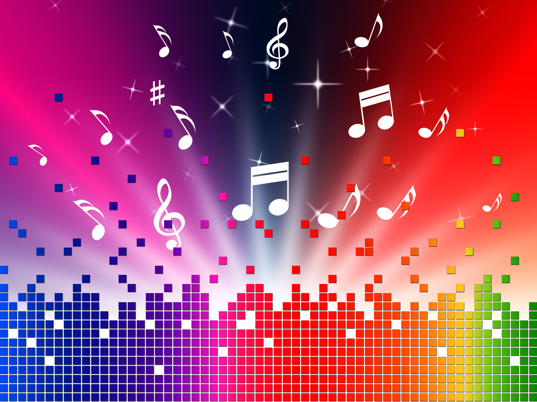 Music Background Images: Free Photo: Colorful Music Background Shows Sounds Jazz