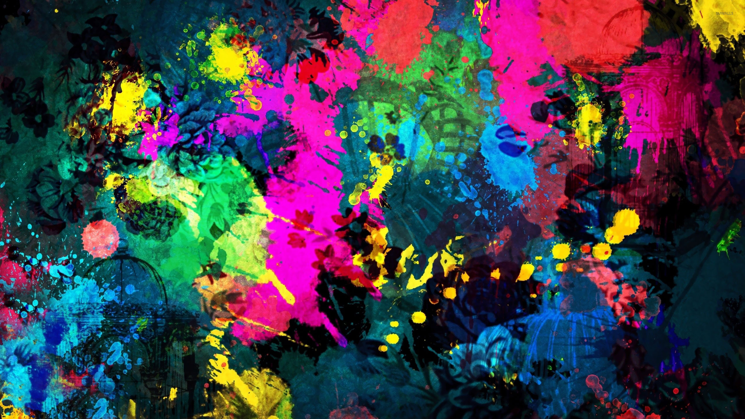 Colorful paint splatter wallpaper - Abstract wallpapers - #18695