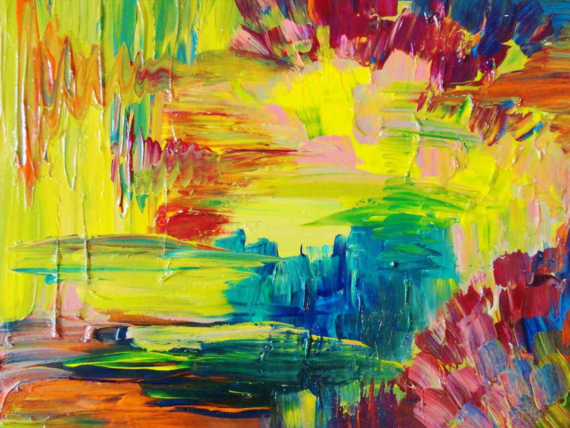 Abstract Art Original Acrylic Painting Patchwork Photo Collection ...