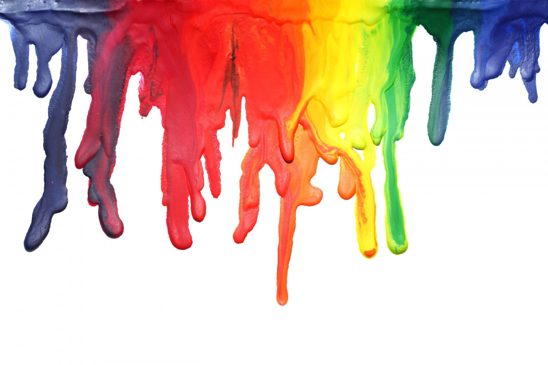Colorful runny paint photo