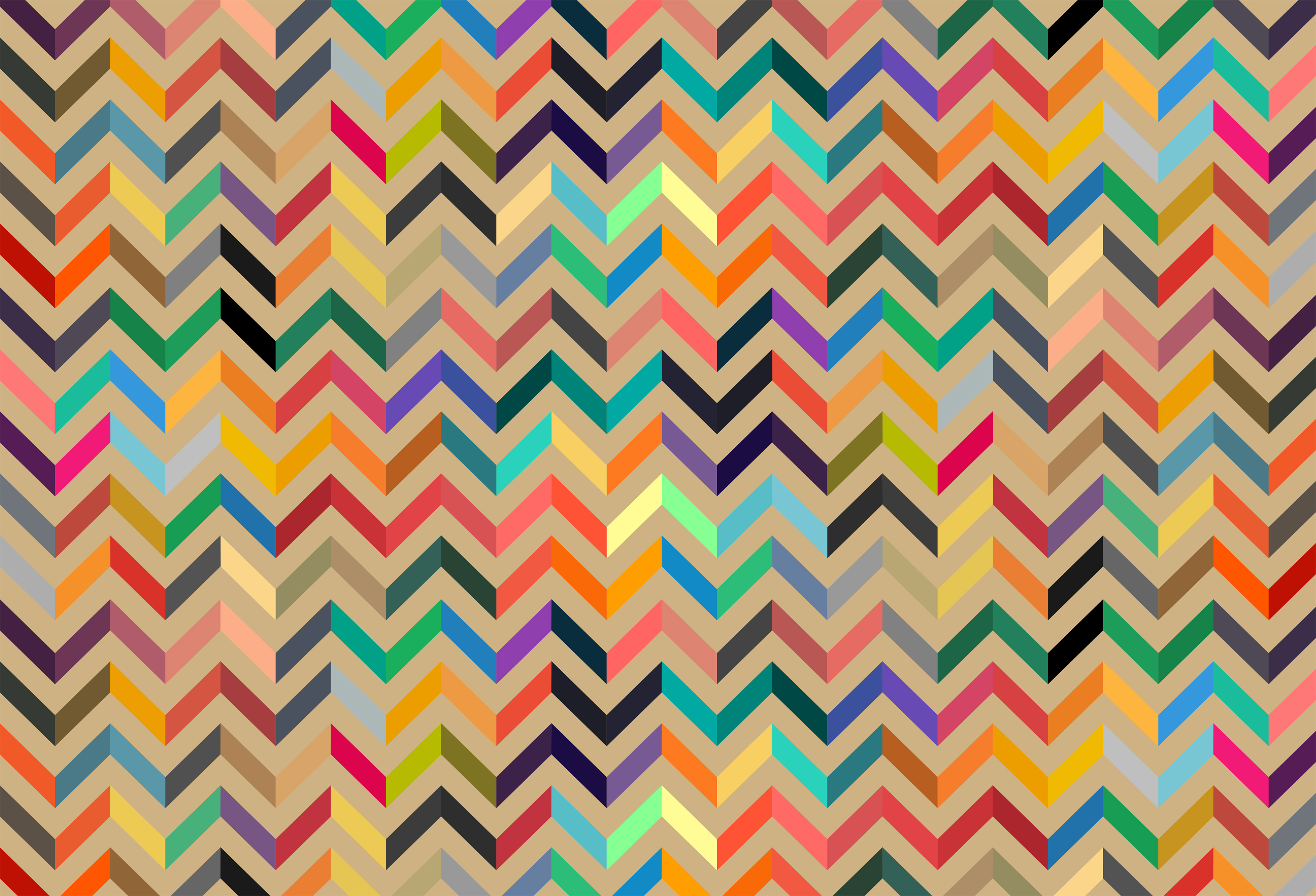 Colorful seamless pattern background - flat colors palette photo