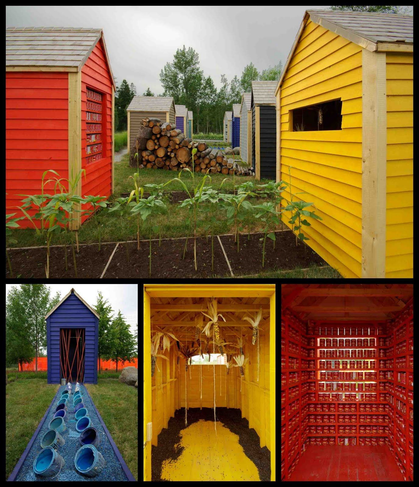 Multiple sheds like the ones shown here can be used for gardening ...