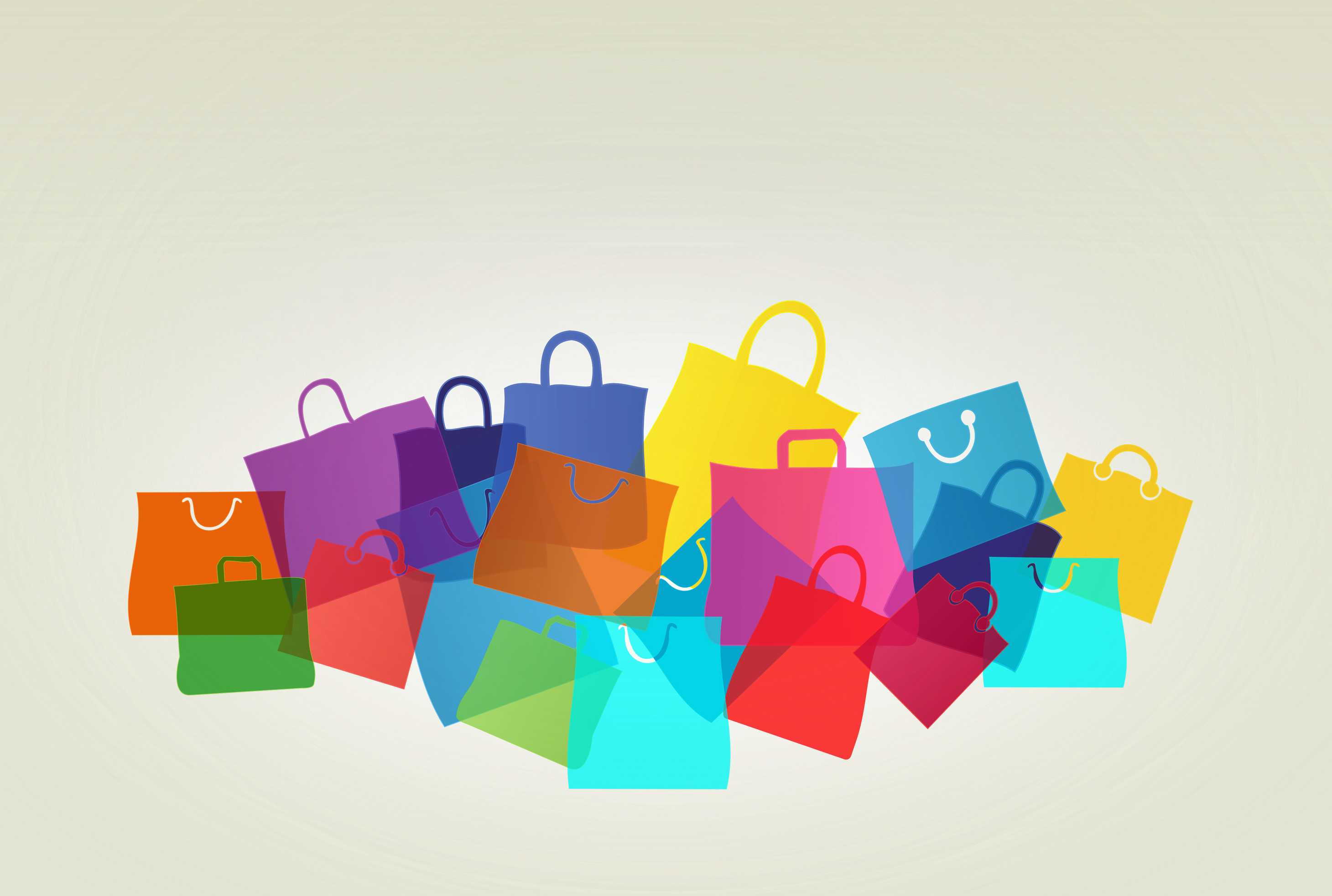 Colorful shopping and gift bags photo