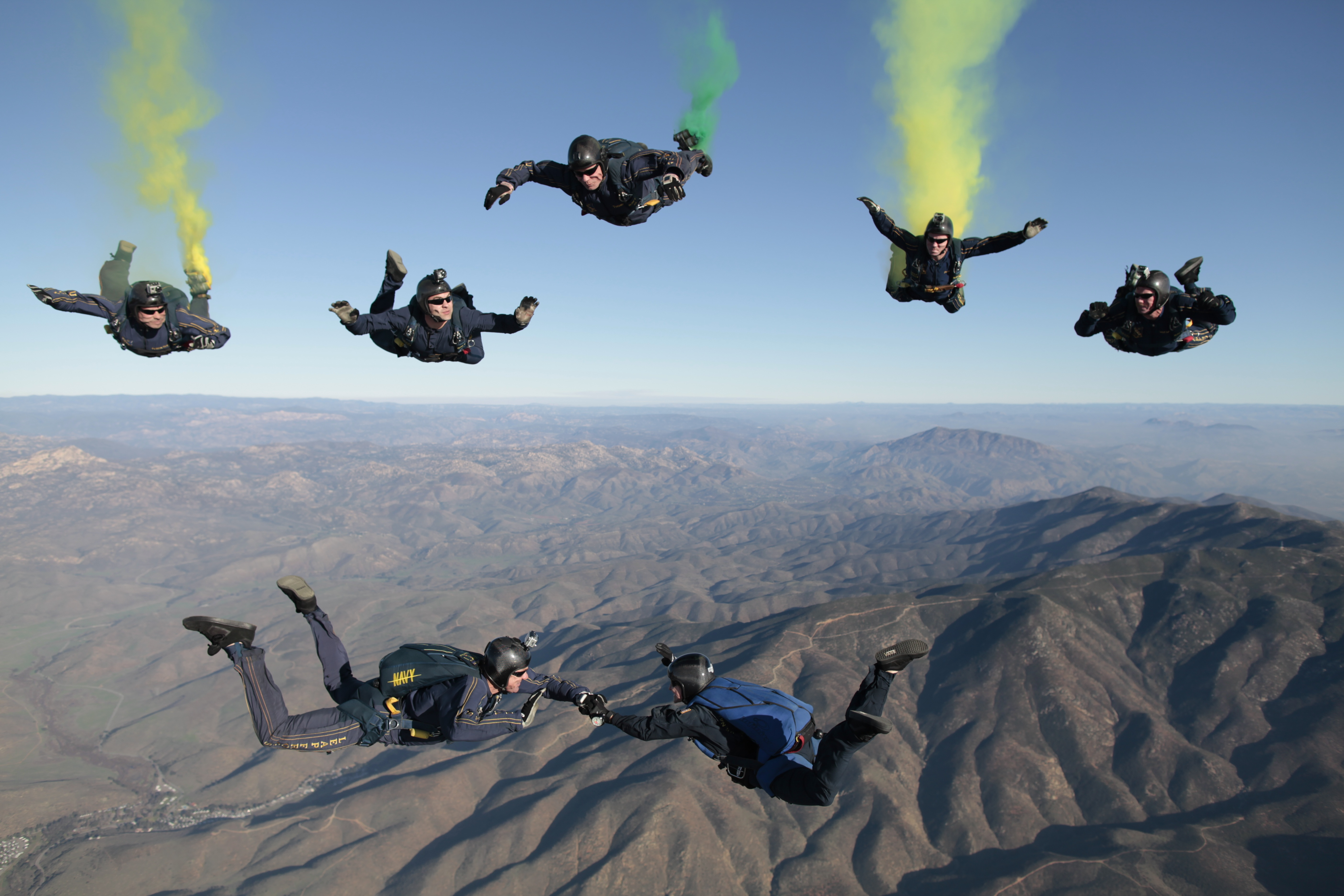Colorful Skydiving, Activity, Colorful, Diving, Sky, HQ Photo