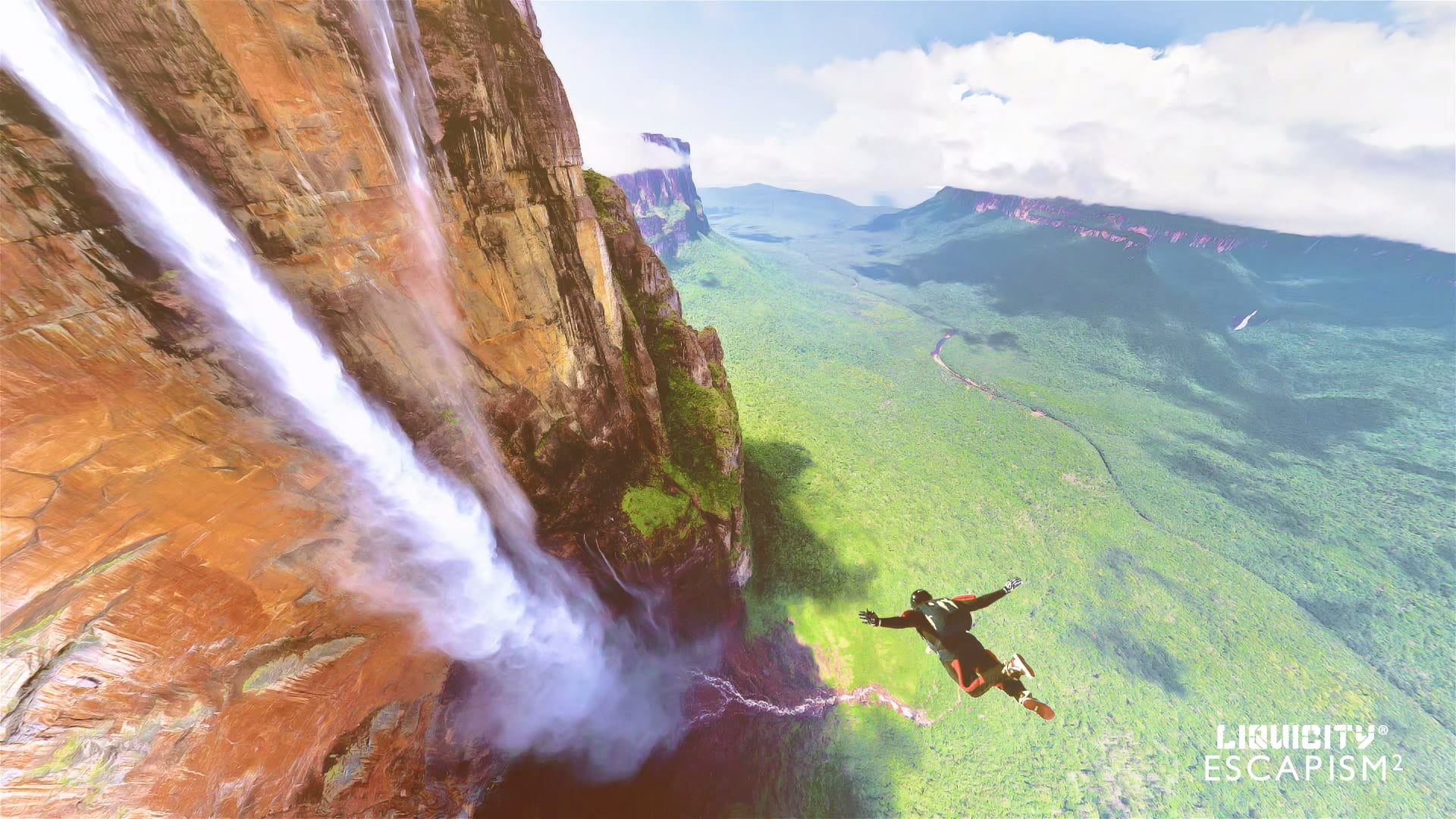 Man skydiving near hillside with clouds HD wallpaper | Wallpaper Flare