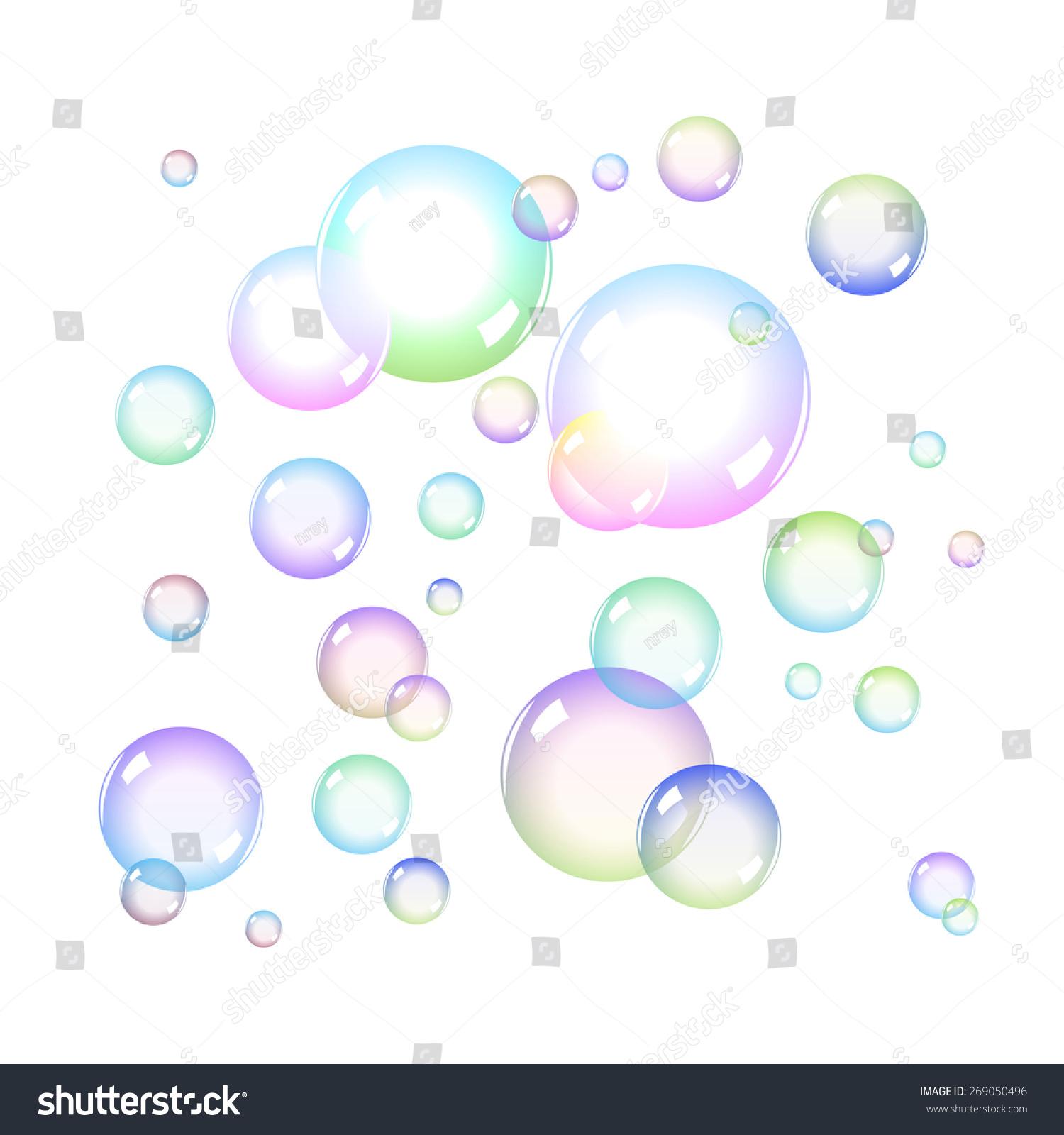 Color Soap Bubbles Set Transparency Stock Vector 269050496 ...