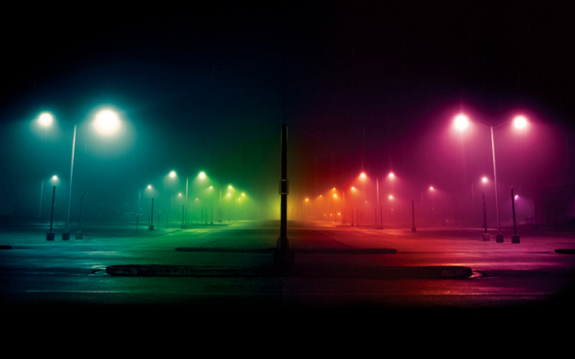 Colorful street lights wallpaper #5149