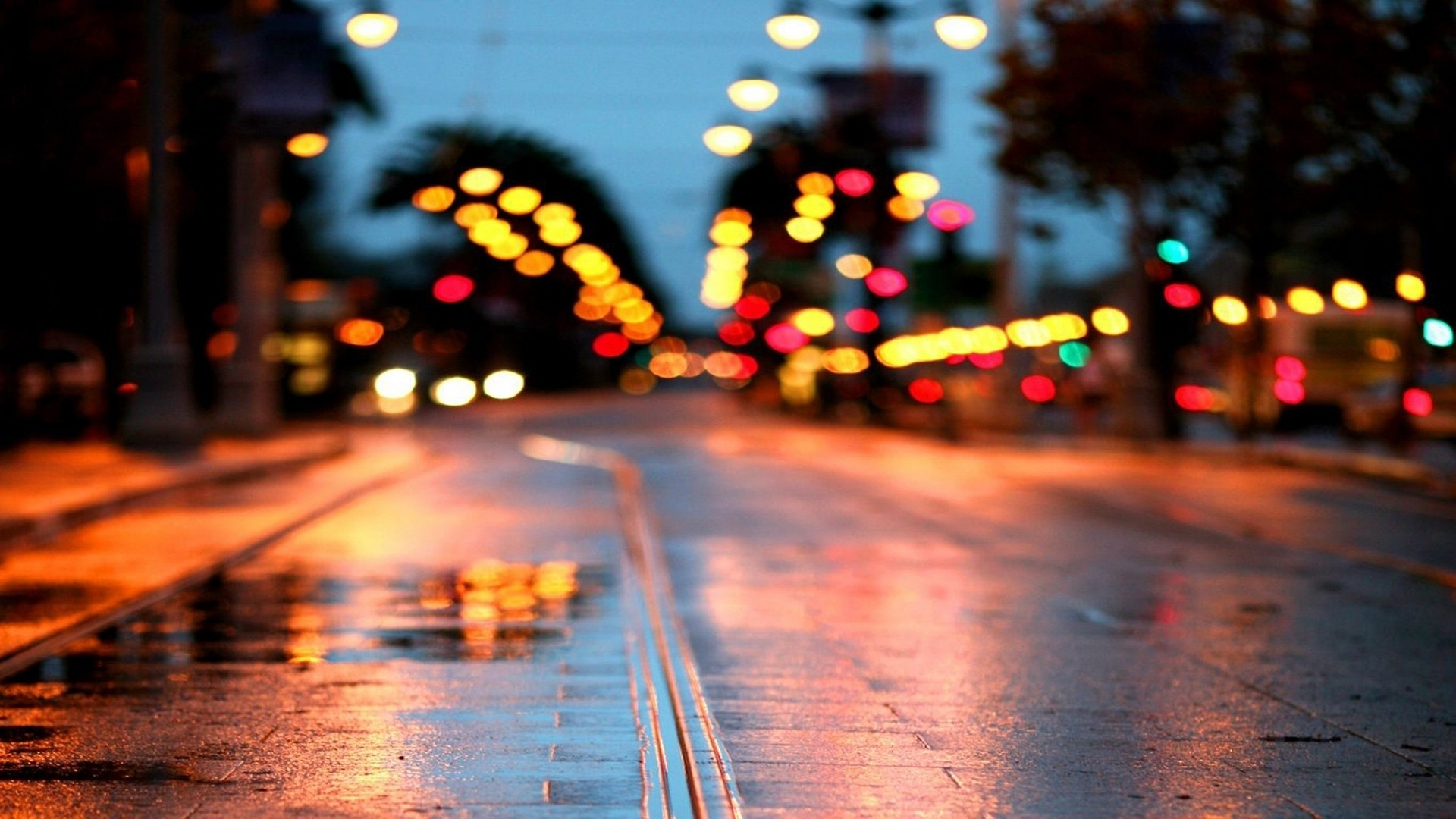 cityscapes, photography, street, colors, out of focus :: Wallpapers