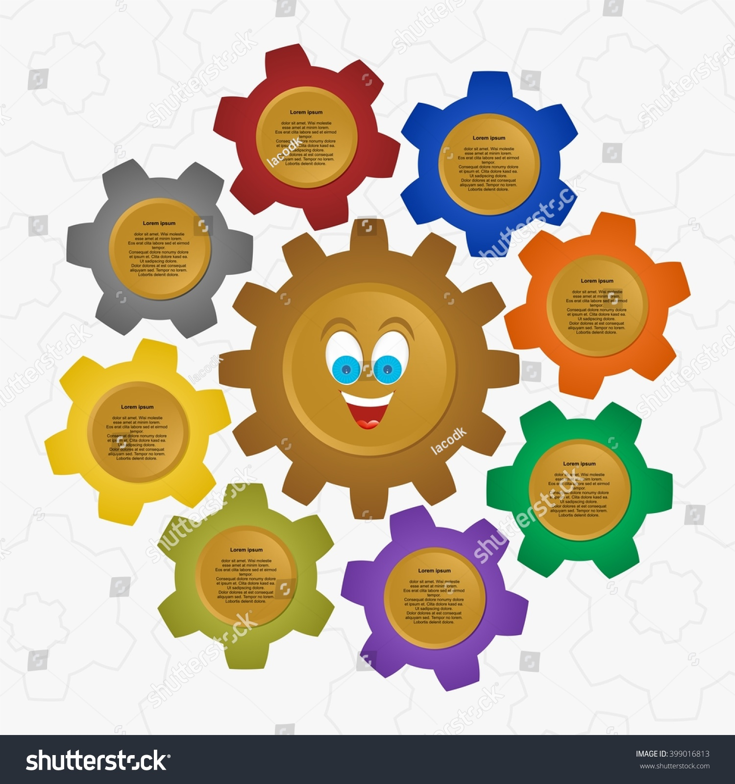 Colorful toothed wheels photo