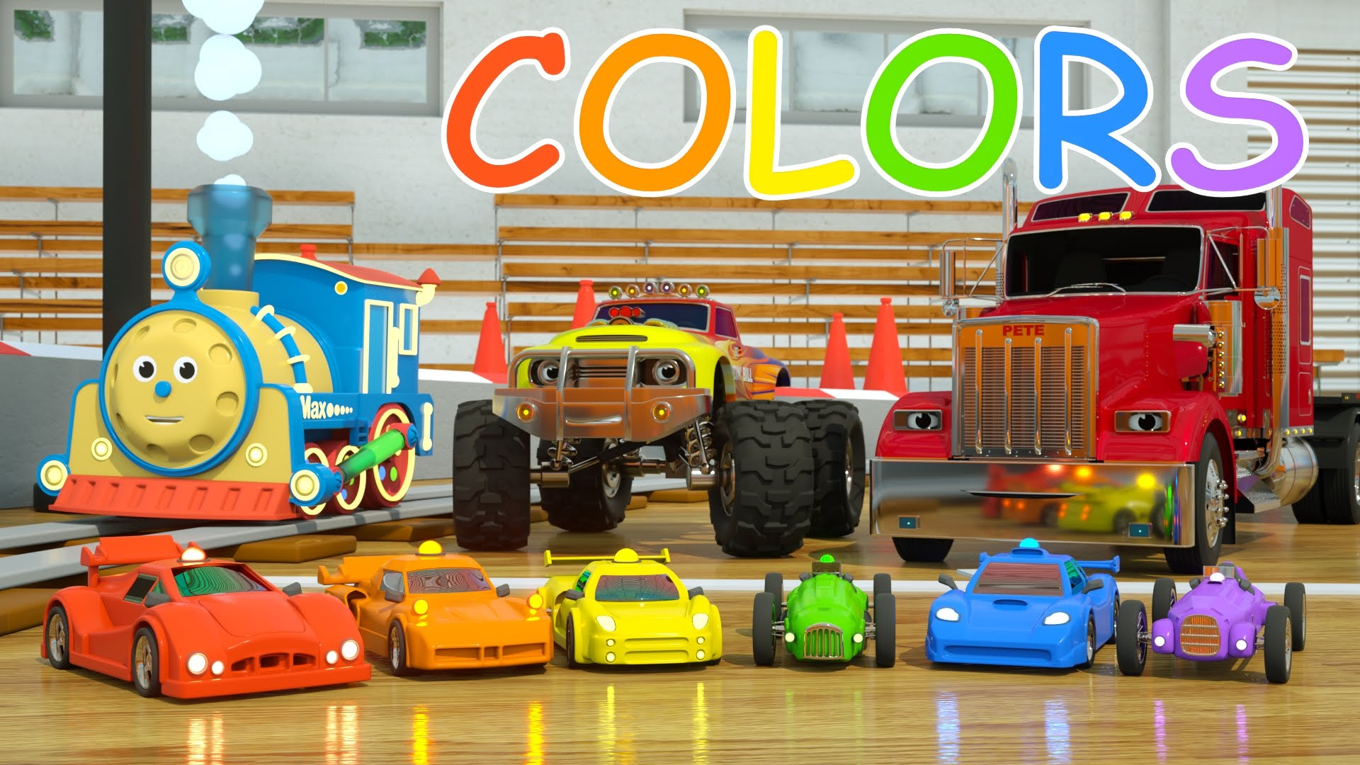 Learn Colors and Race Cars with Max, Bill and Pete the Truck - TOYS ...