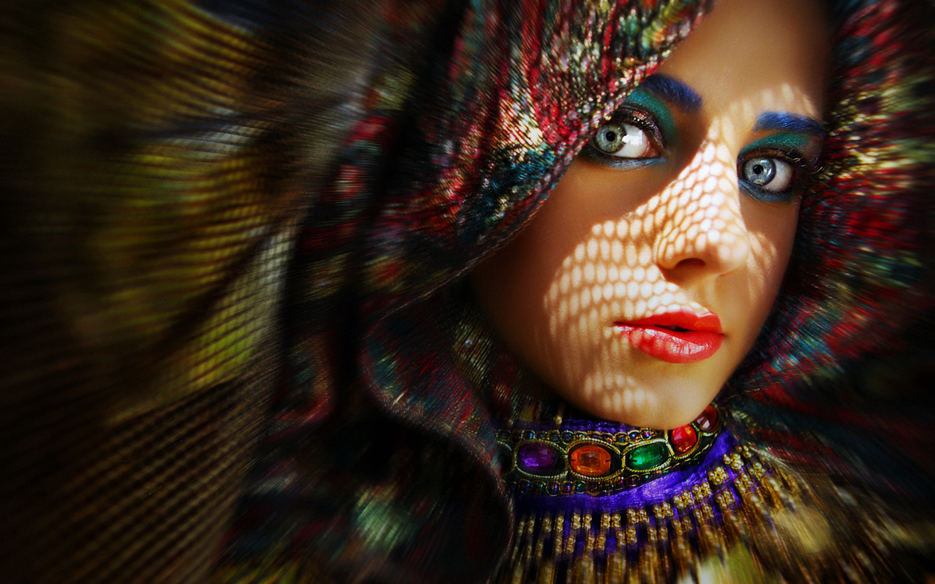 Colorful woman photo