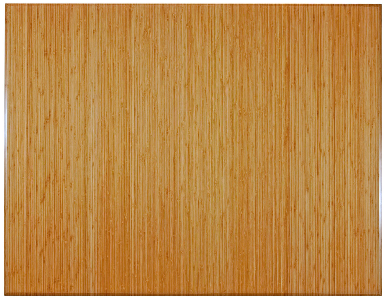 47x60 Natural Bamboo Roll-Up Chair Mat - InteriorDecorating