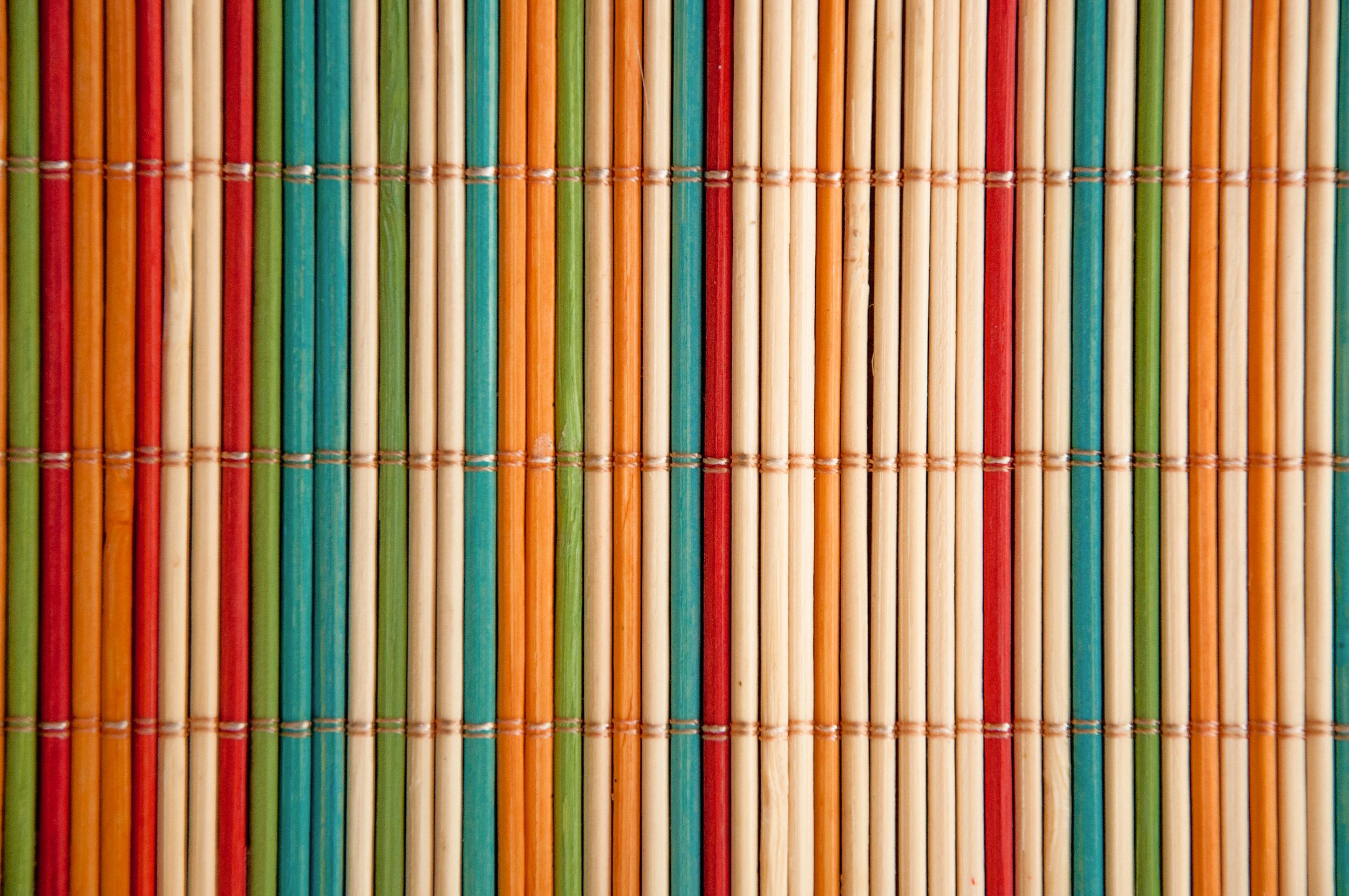 Coloured bamboo mat, Abstract, Rug, Mesh, Napkin, HQ Photo