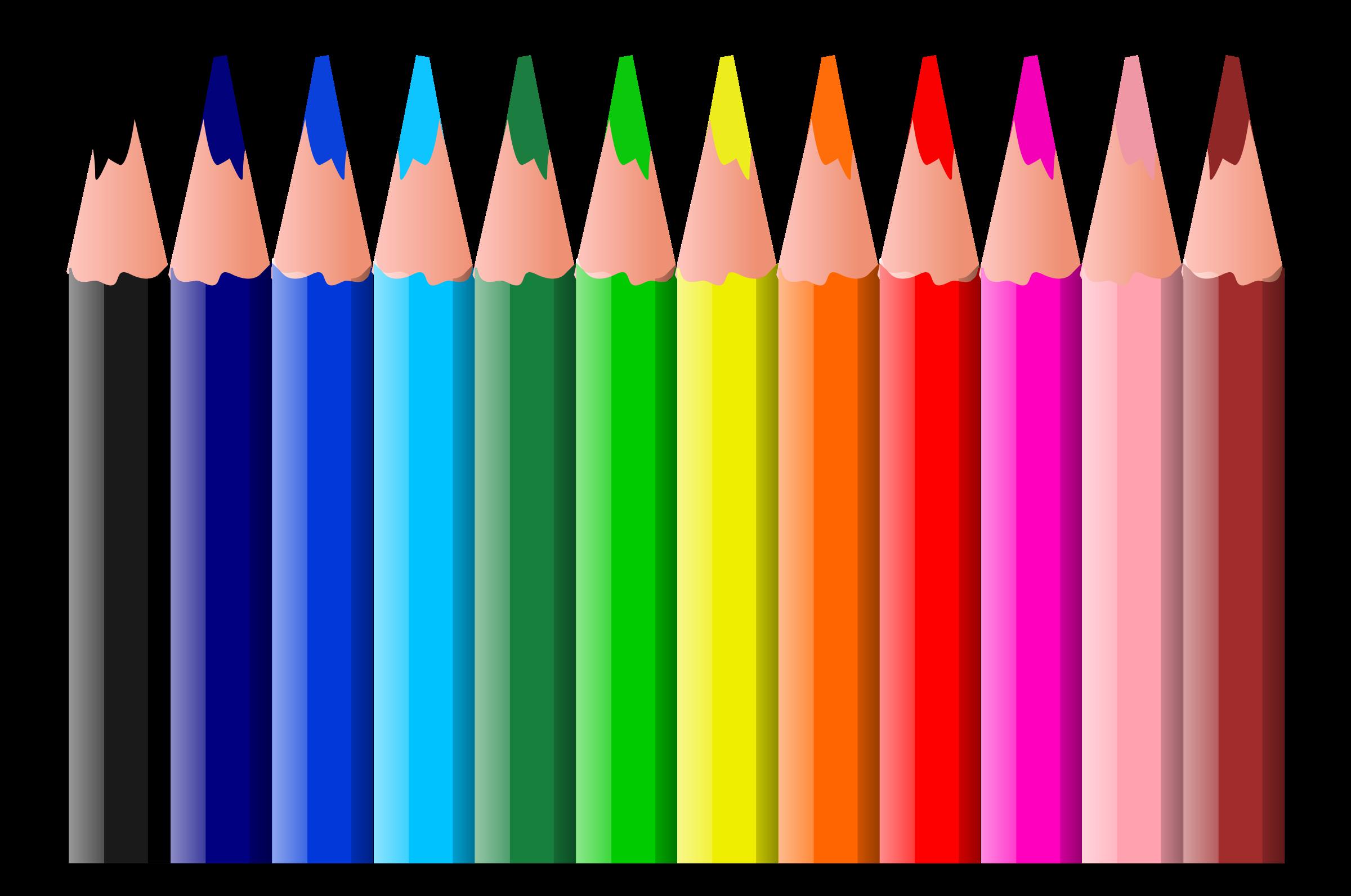 Clipart - Coloured Pencils