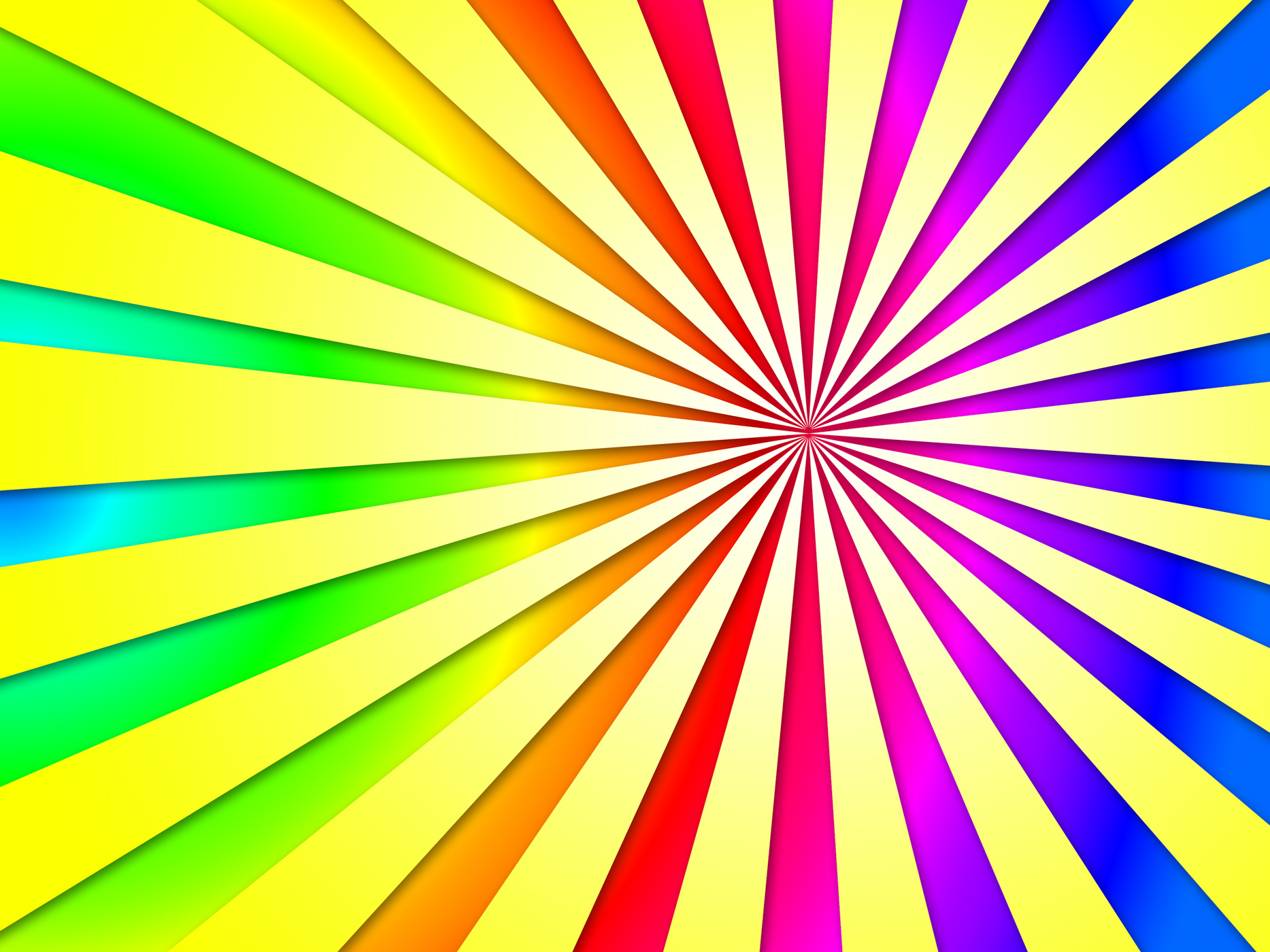 Colourful dizzy striped tunnel background shows dizzy illustration or photo