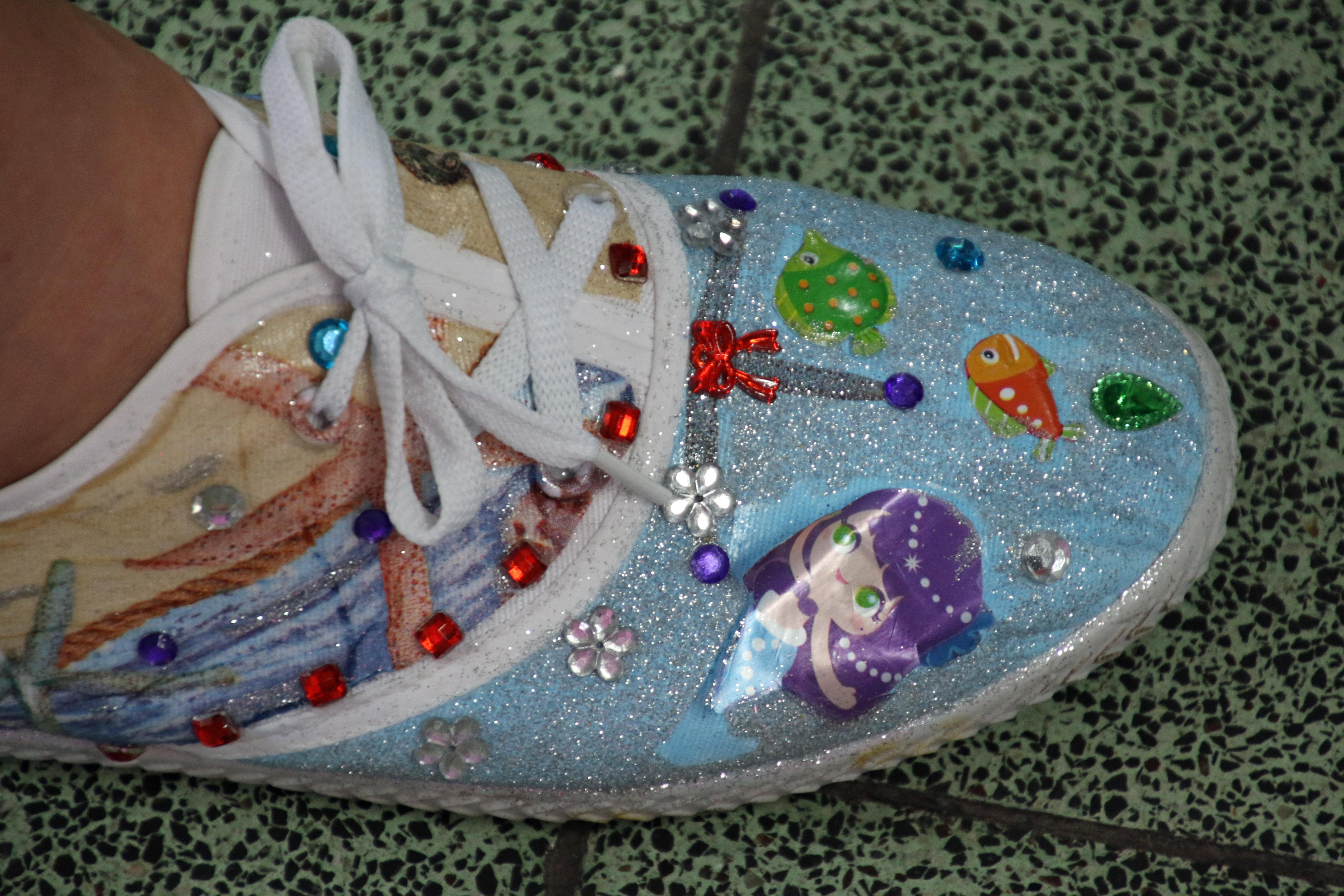 Colourful female shoe, Colourful female shoe