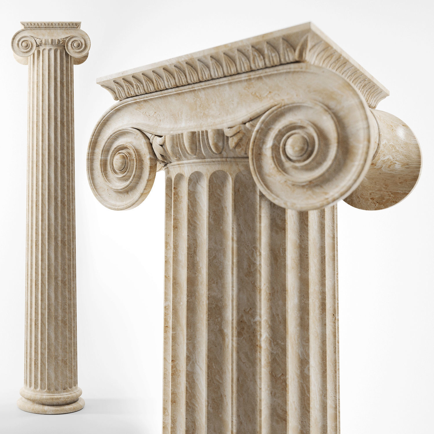 3D Ionic column | CGTrader