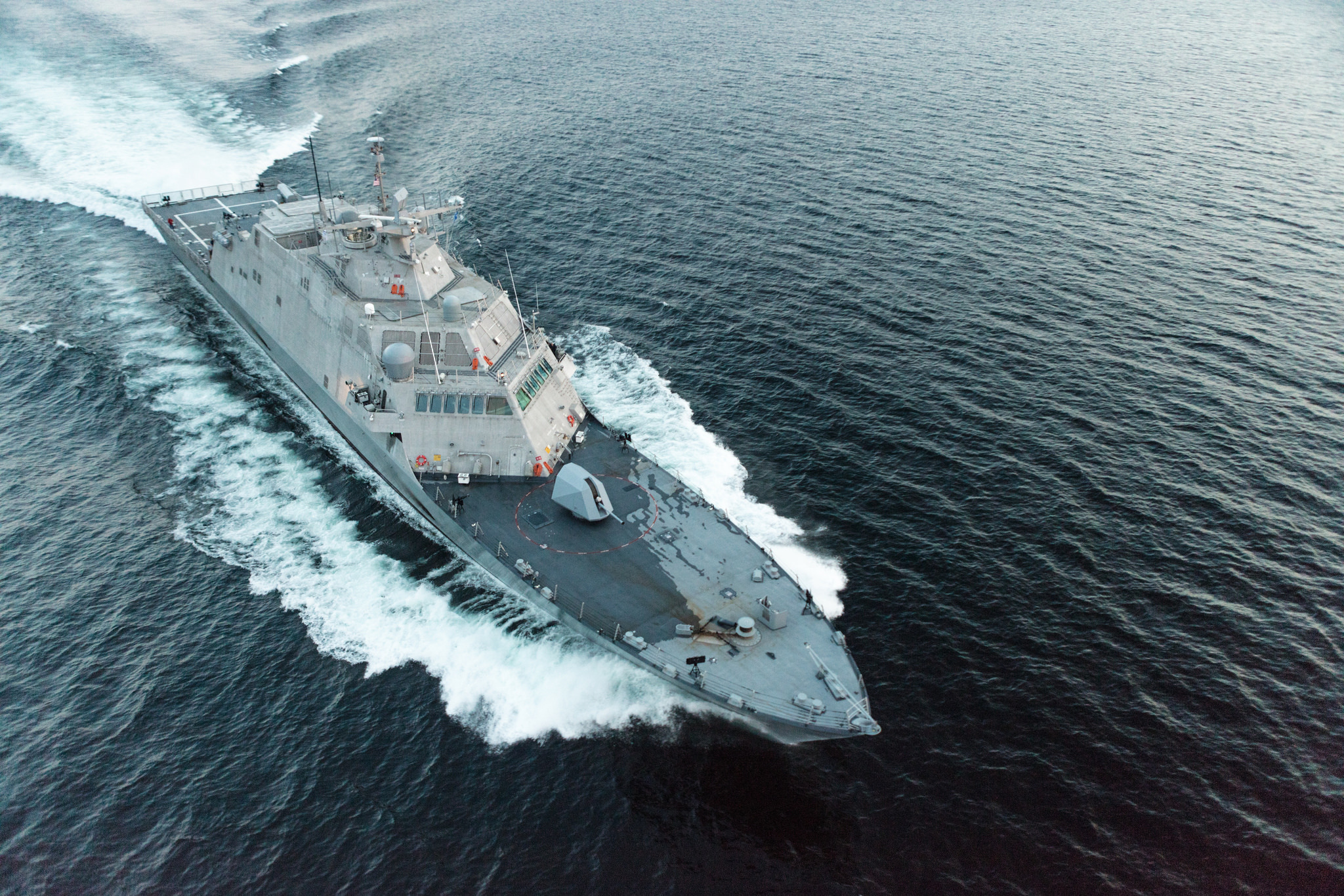 Combat Ship USS Little Rock, Combat, Navy, Ship, USN, HQ Photo