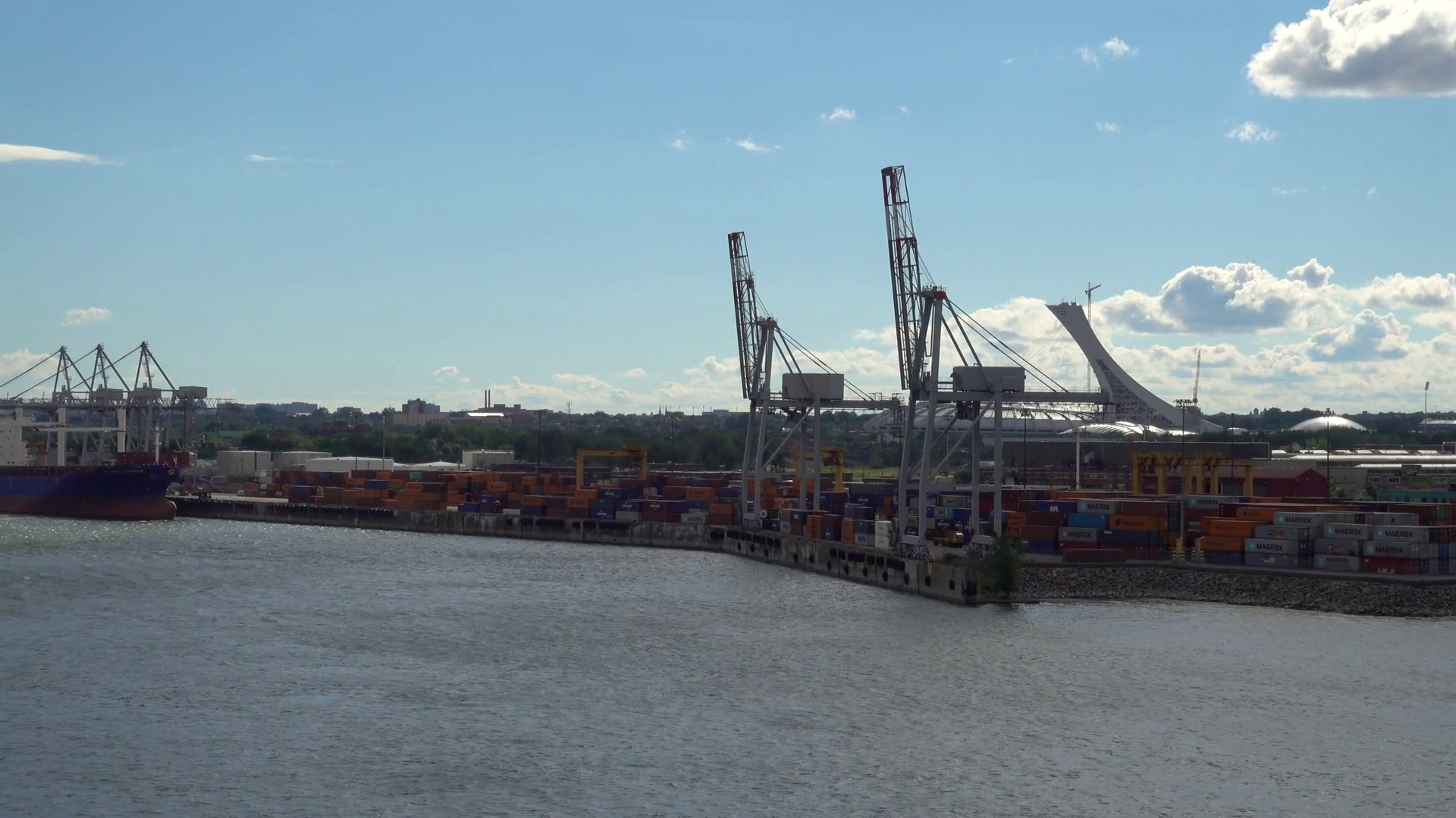 The Commercial Port Of Montreal On The St Lawrence Seaway Quebec ...