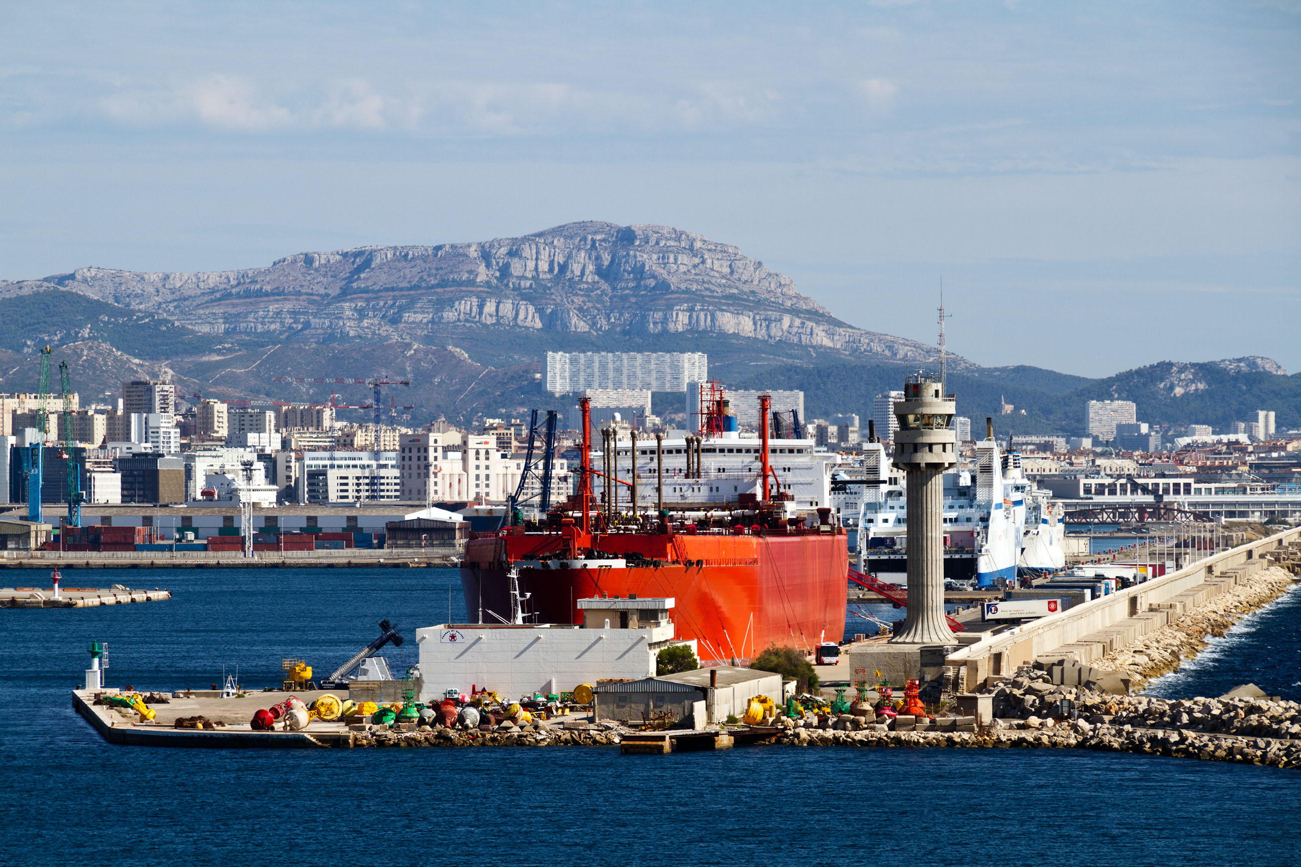 Commercial Port, Blue, Ships, Nautical, Ocean, HQ Photo