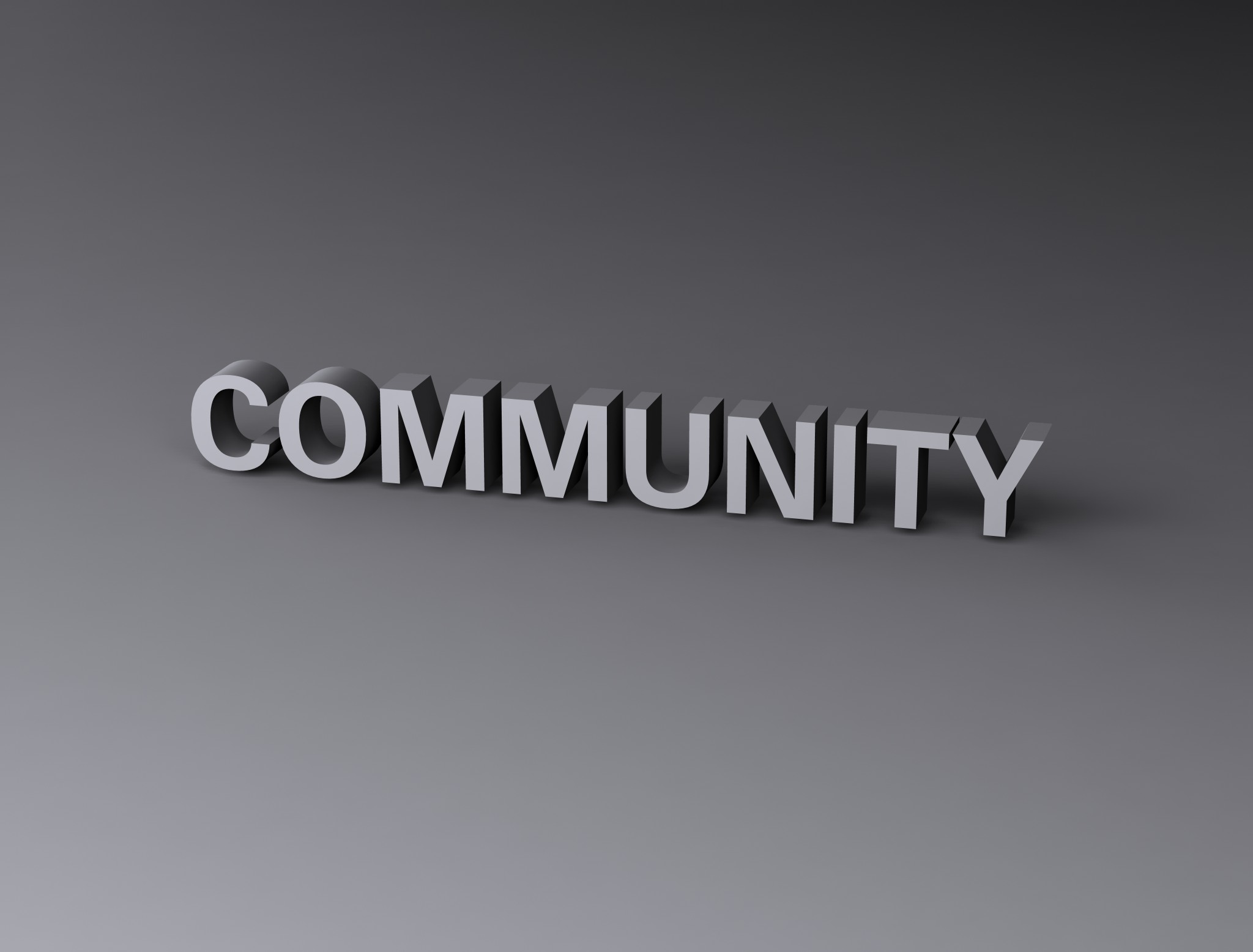 Community, 3d, Render, Text, Typography, HQ Photo