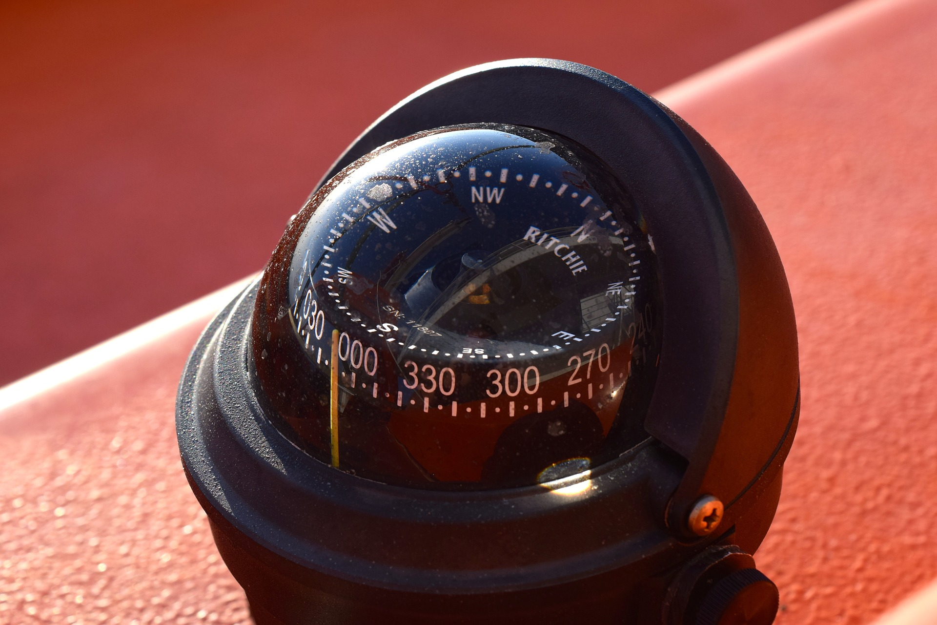 Compass on the ship photo