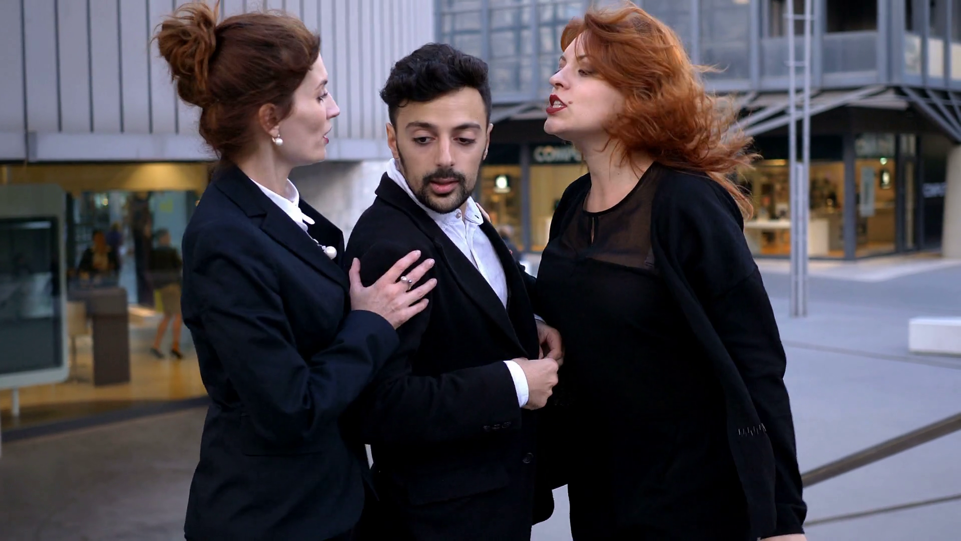 quarrel between colleagues: competition, envy, Stock Video Footage ...
