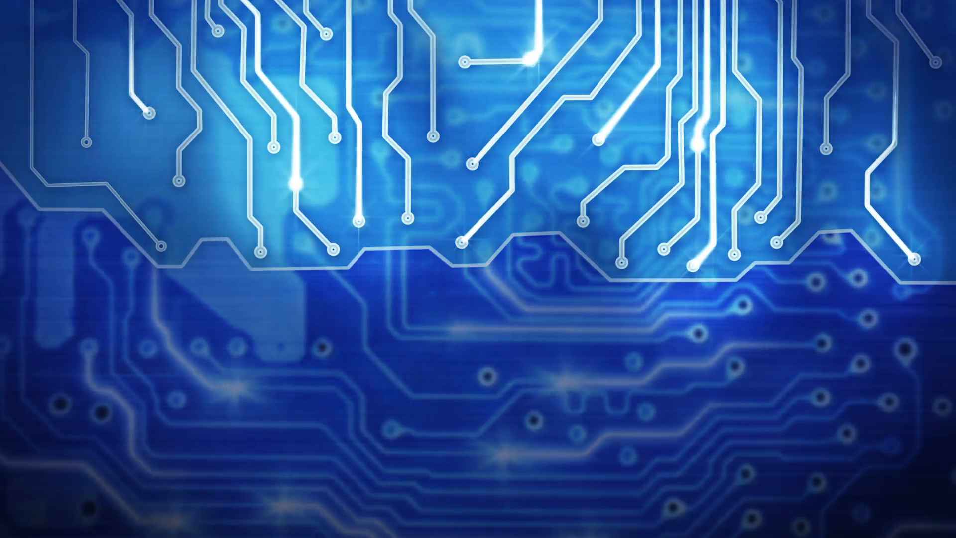 blue computer circuit board loop background Motion Background ...