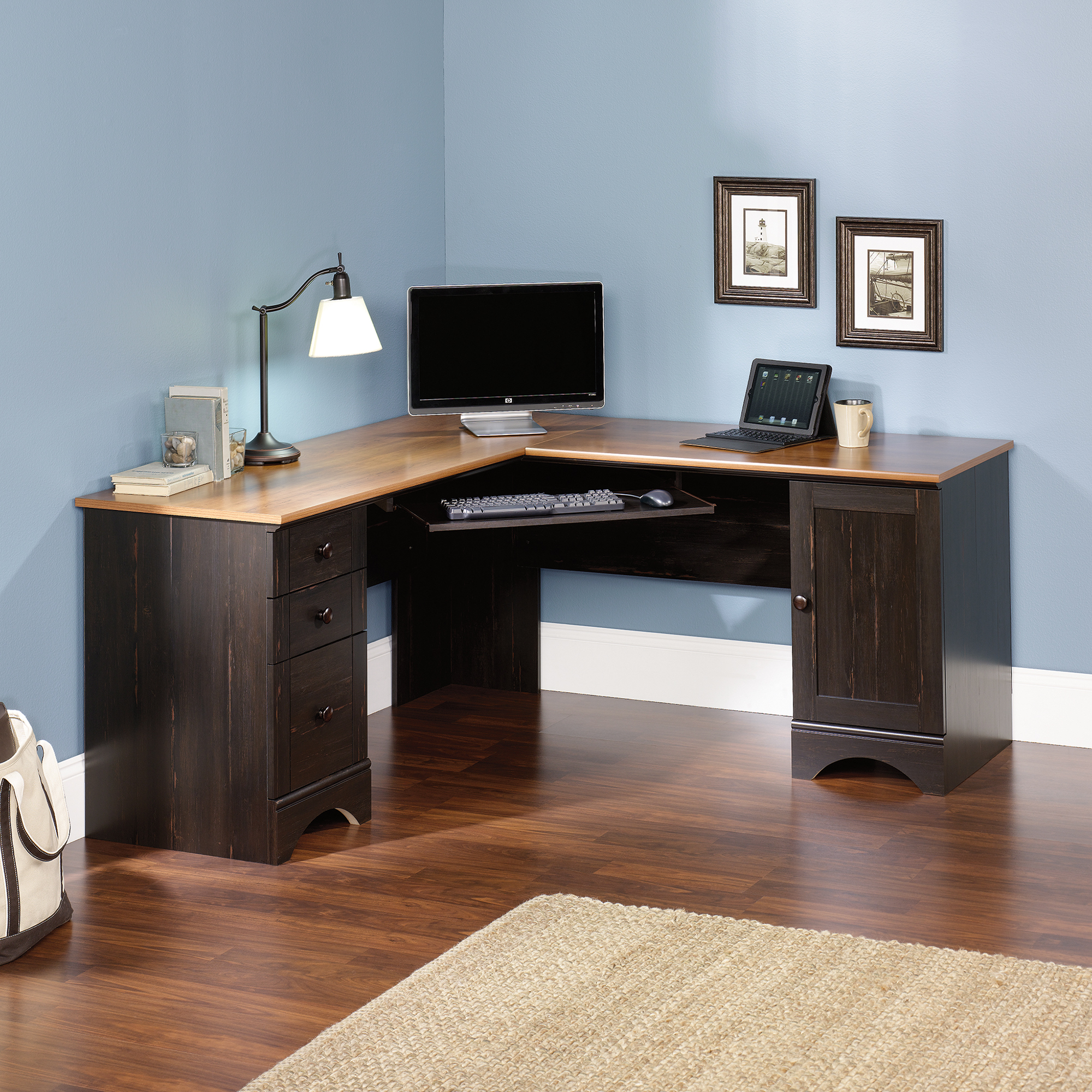 Harbor View | Corner Computer Desk | 403794 | Sauder